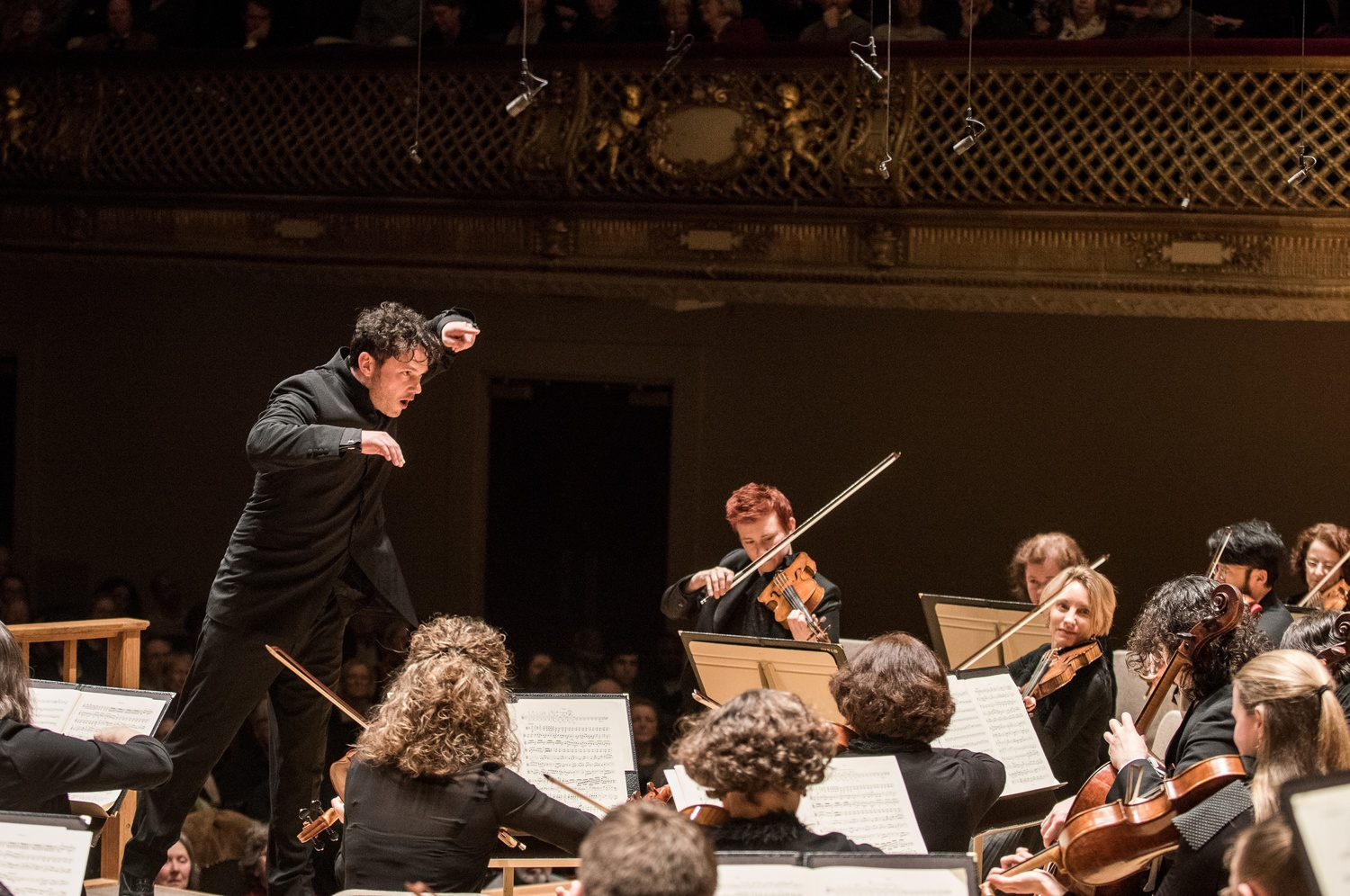 Matthew Halls conducts the Handel and Haydn Orchestra.