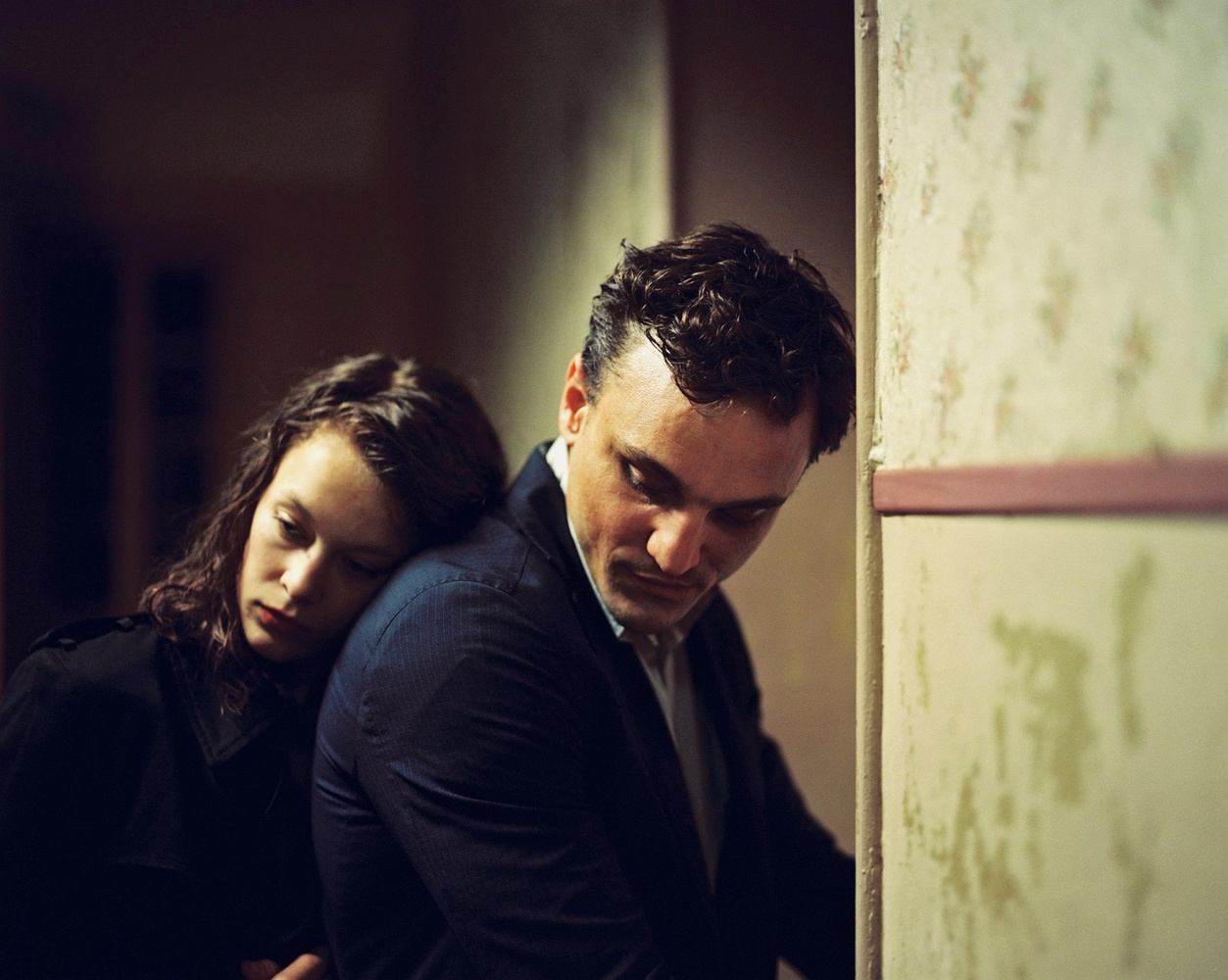 "Paula Beer stars as Marie (left) and Franz Rogowski stars as Georg (right) in ""Transit"" (2018), directed by Christian Petzold."