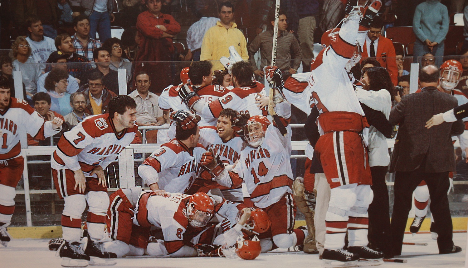 Thirty years ago, the Crimson won its first and only NCAA title in a 4-3 overtime thriller against Minnesota.