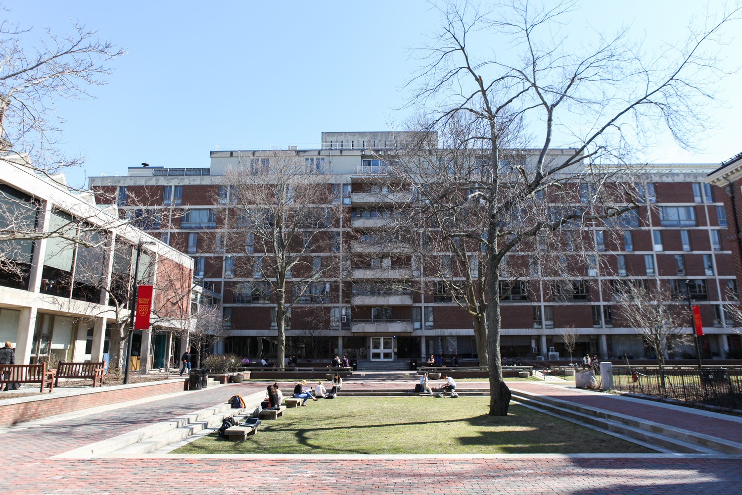 Quincy House is one of the remaining undergraduate houses open on campus after the majority of students left because of the coronavirus pandemic.