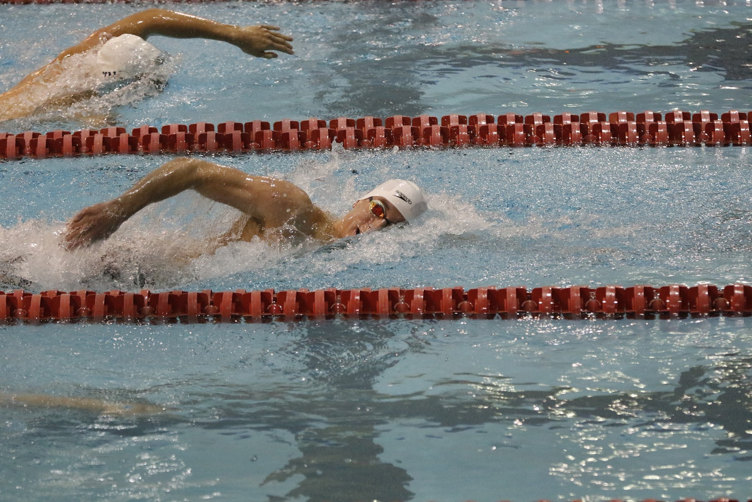 Harvard competes in previous action.