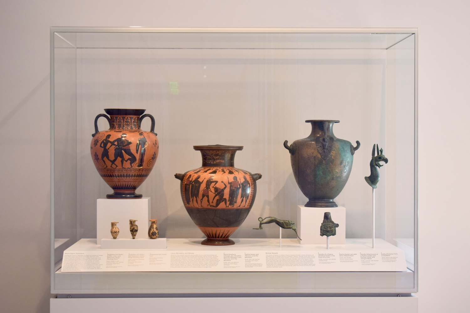 The Greek vases are located on the third floor of the Harvard Art Museums.