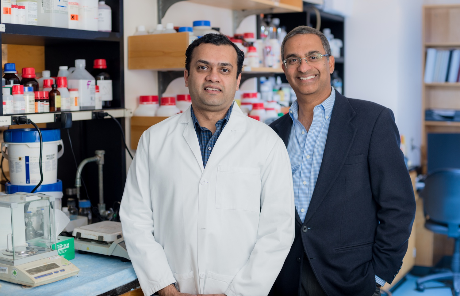 Ramesh A. Shivdasani (right) is a professor at the Harvard Medical School and deputy director of the Dana-Farber Cancer Institute. Unmesh Jadhav (left) is a post-doctoral fellow.