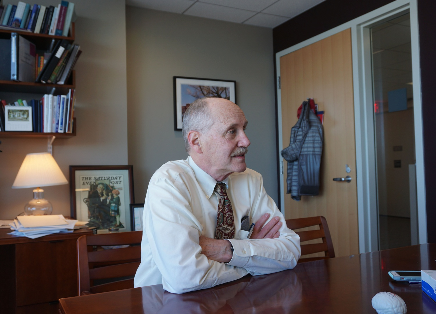 Harvard University Health Services Director Paul J. Barreira in his office in the Smith Campus Center.