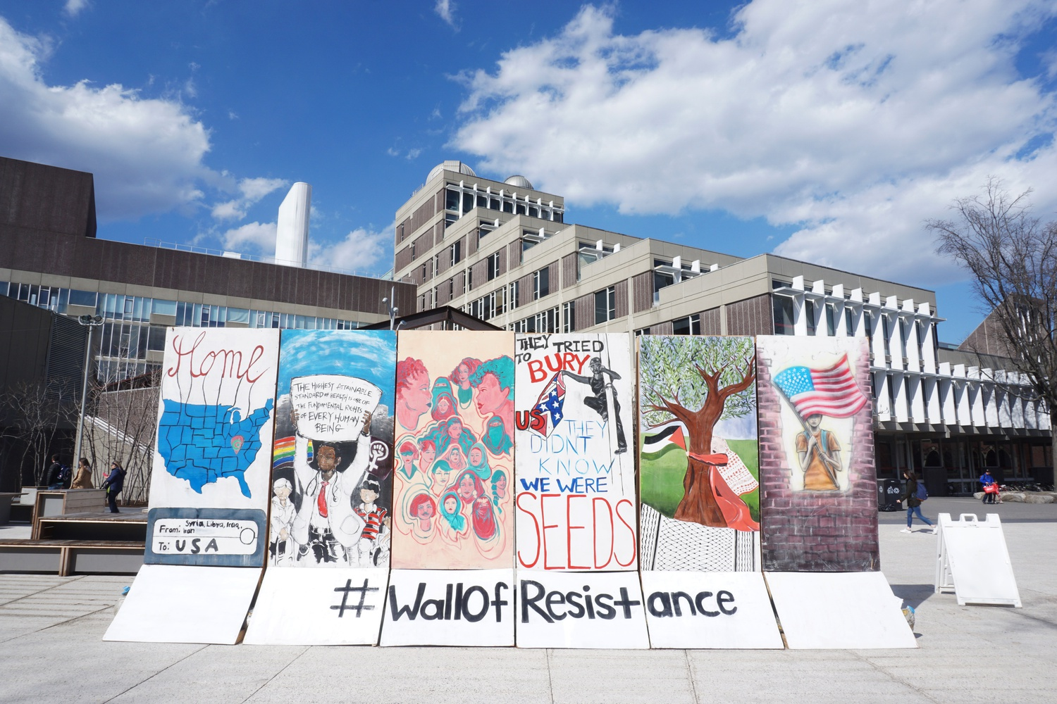 In past years, members of the Palestine Solidarity Committee, along with other activist groups, have displayed a public art project called the Wall of Resistance in Science Center Plaza during their annual Israeli Apartheid Week. This year, the programming was held virtually.