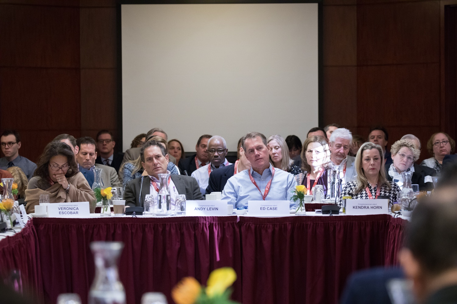 Congresspeople attend an event at the IOP's Bipartisan Program for Newly Elected Members of Congress, held in December of 2018.