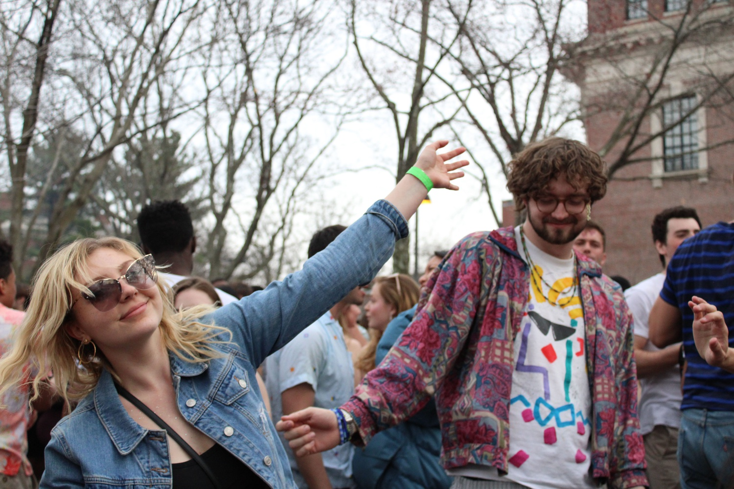 Students dance during the annual Yardfest concert. The College made a series of changes to the event, including moving it from Friday to Sunday afternoon.