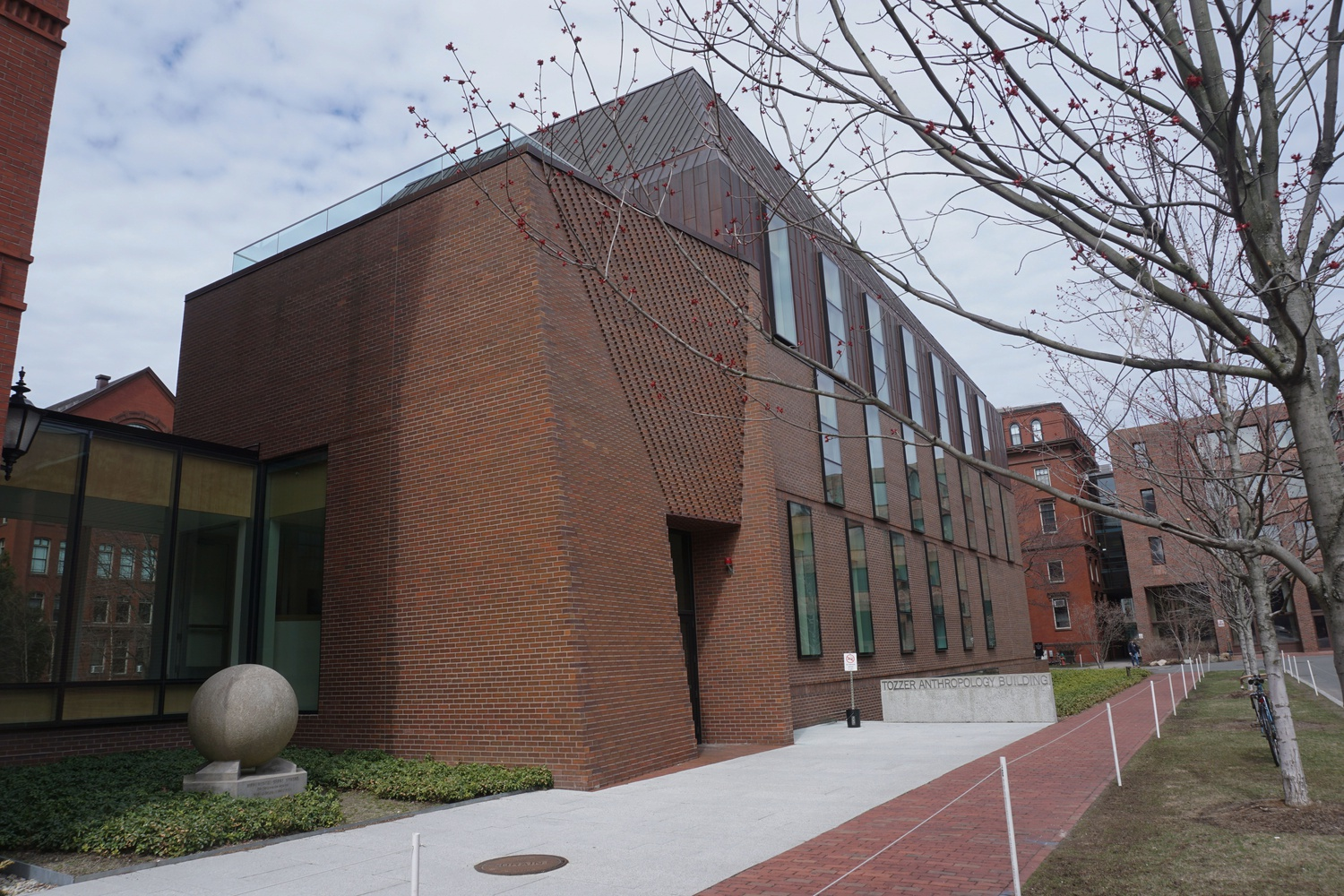 The Tozzer Building on Divinity Avenue houses the Anthropology department.