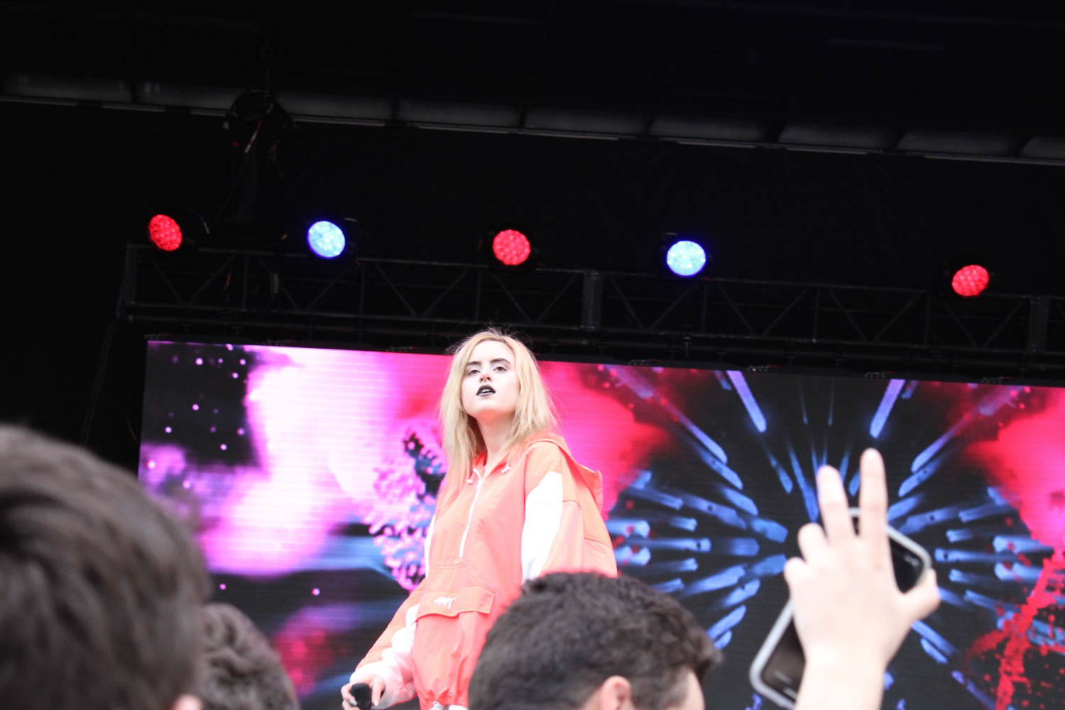 Pop singer and songwriter Kiiara performs at Yardfest Sunday afternoon. Kiiara was the concert's opener this year.