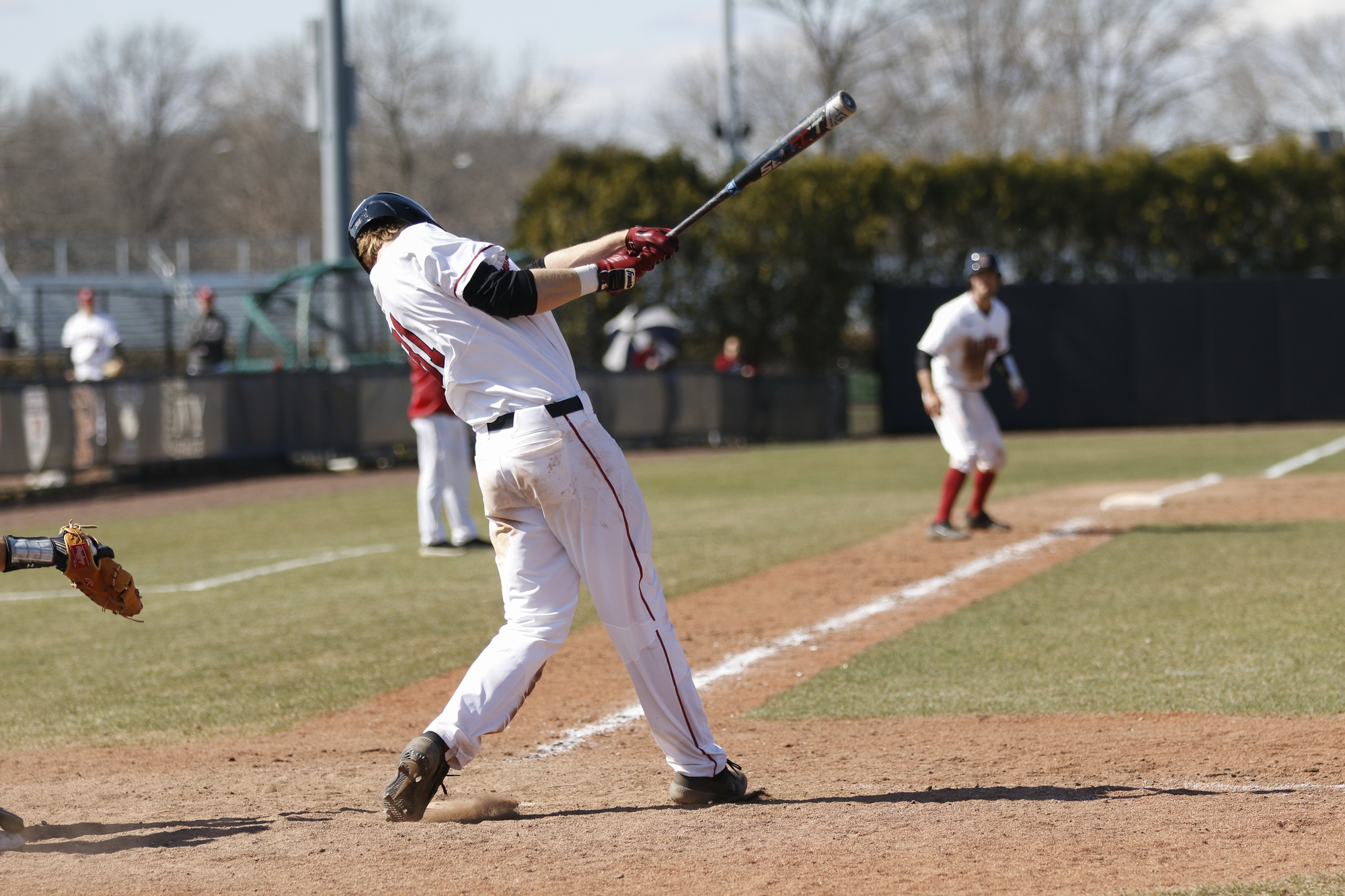 Pat McColl currently leads the conference with a batting average of .459. Earlier in the season, he held the nation's highest mark in this category.