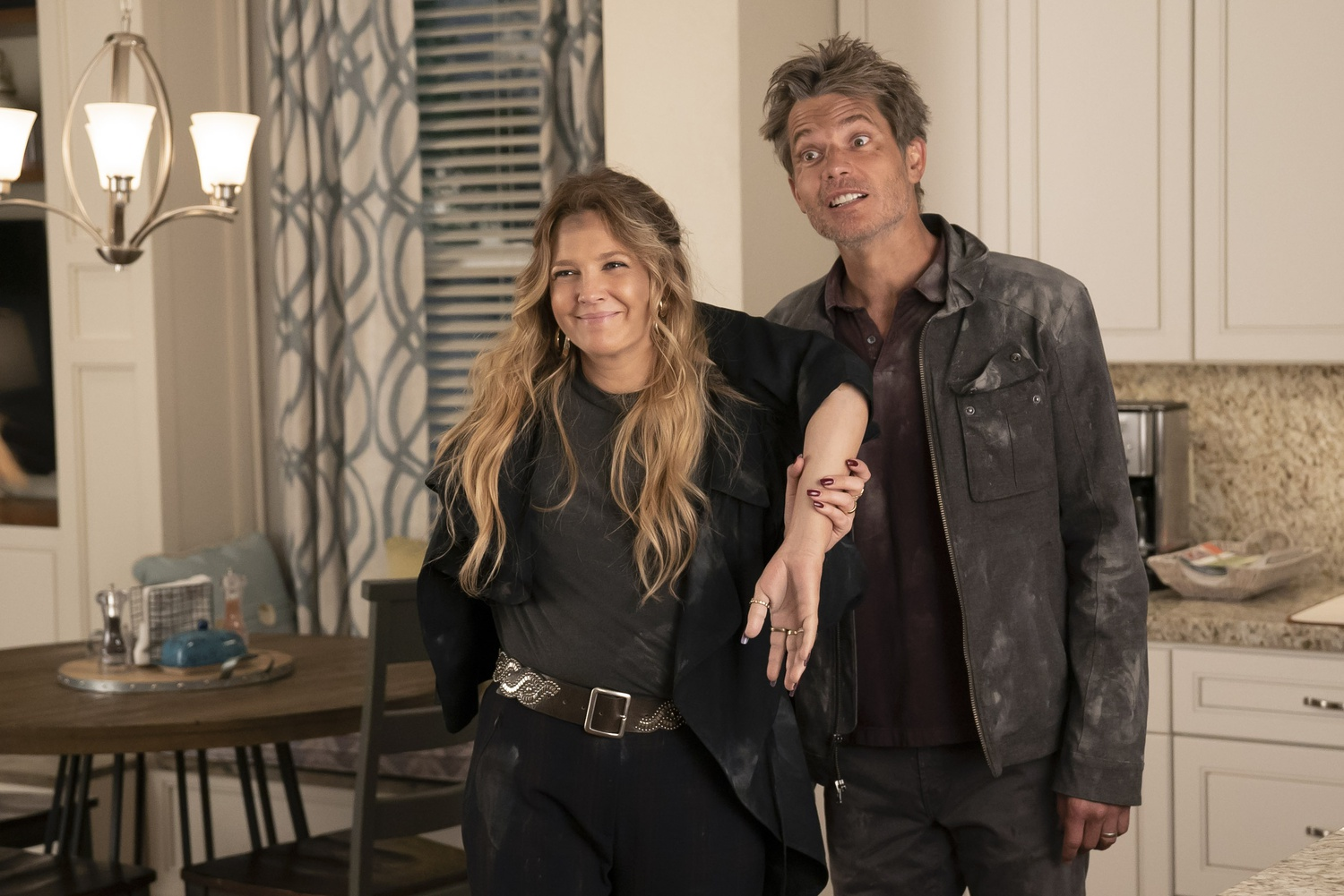 "Drew Barrymore and Timothy Olyphant return for Season Three of ""Santa Clarita Diet."""