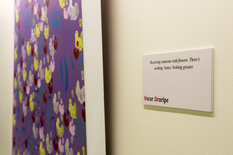 Leverett House is hosting the 'Flowers for Harvard'art exhibit by artist Oscar Araripe.