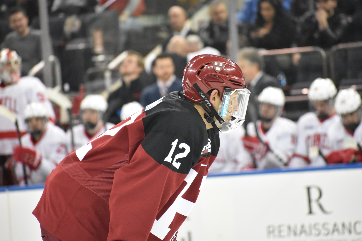 """John Marino's steady presence on the blue line has earned him a career plus-38 rating as well as a """"C"""" for the upcoming season."""