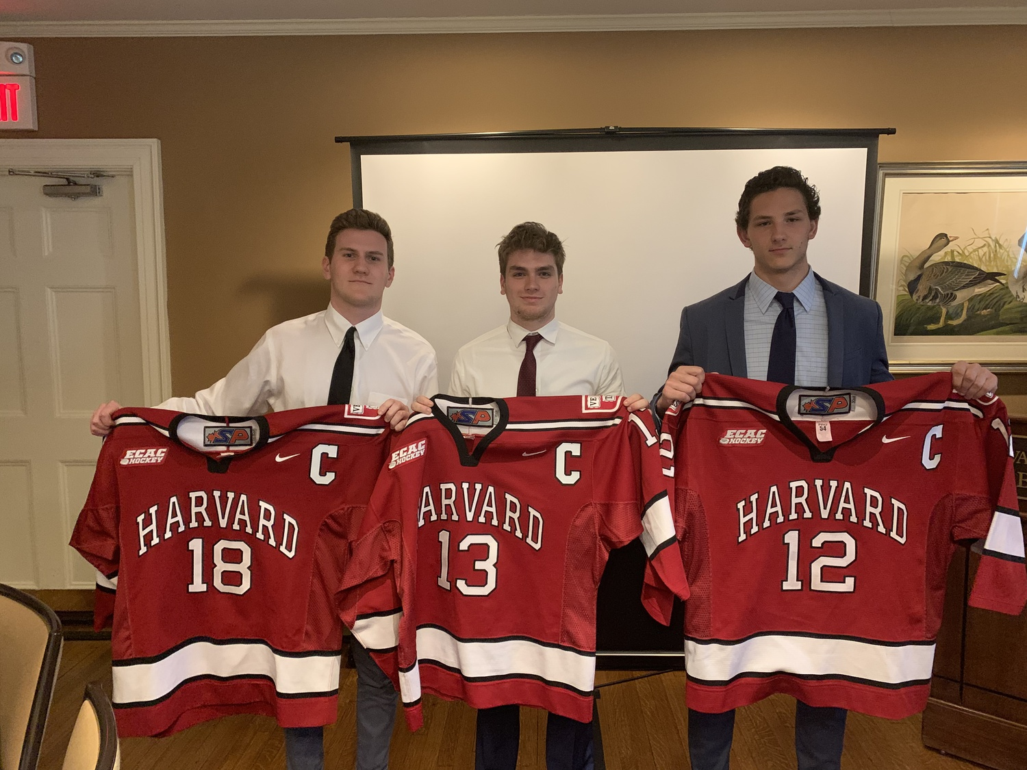 """The trio of captains for the 2019-2020 season officially received the """"C"""" at Saturday morning's team banquet."""