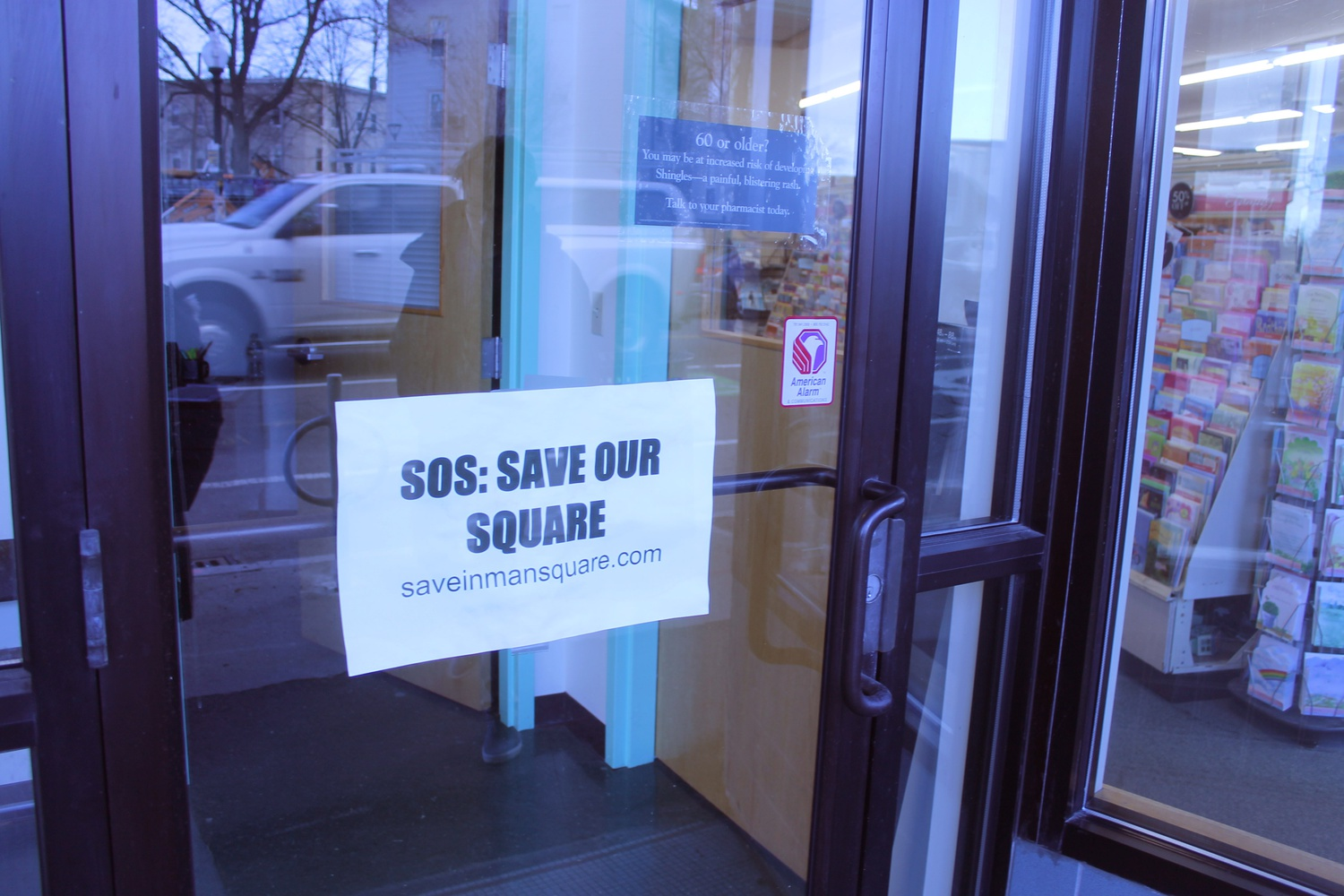 Inman Square residents and businesses are trying to stop the City Council's planned two-year renovations of Vellucci Plaza.