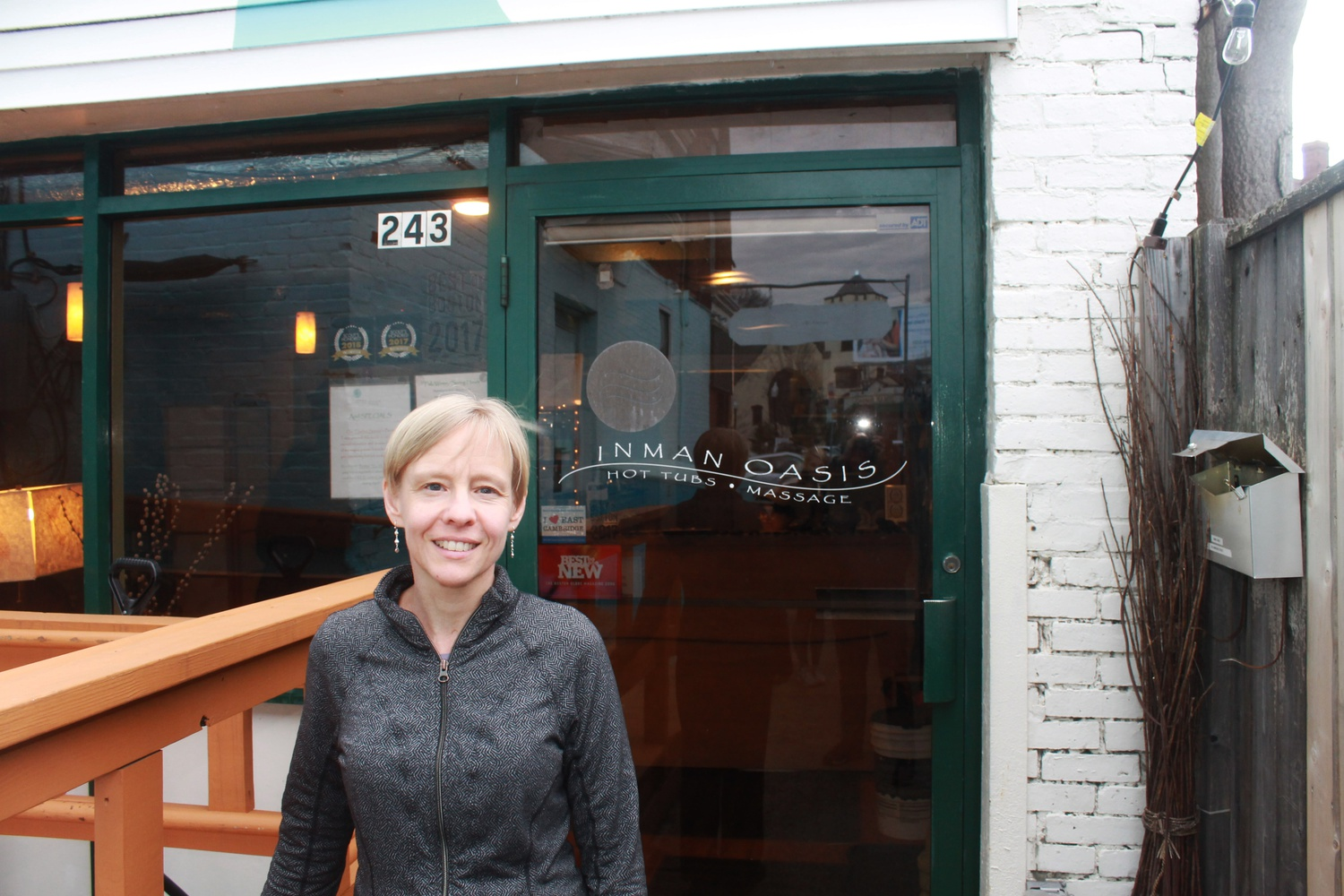 Jenny D. McBride is a co-owner of Inman Oasis, a massage parlor and wellness center.
