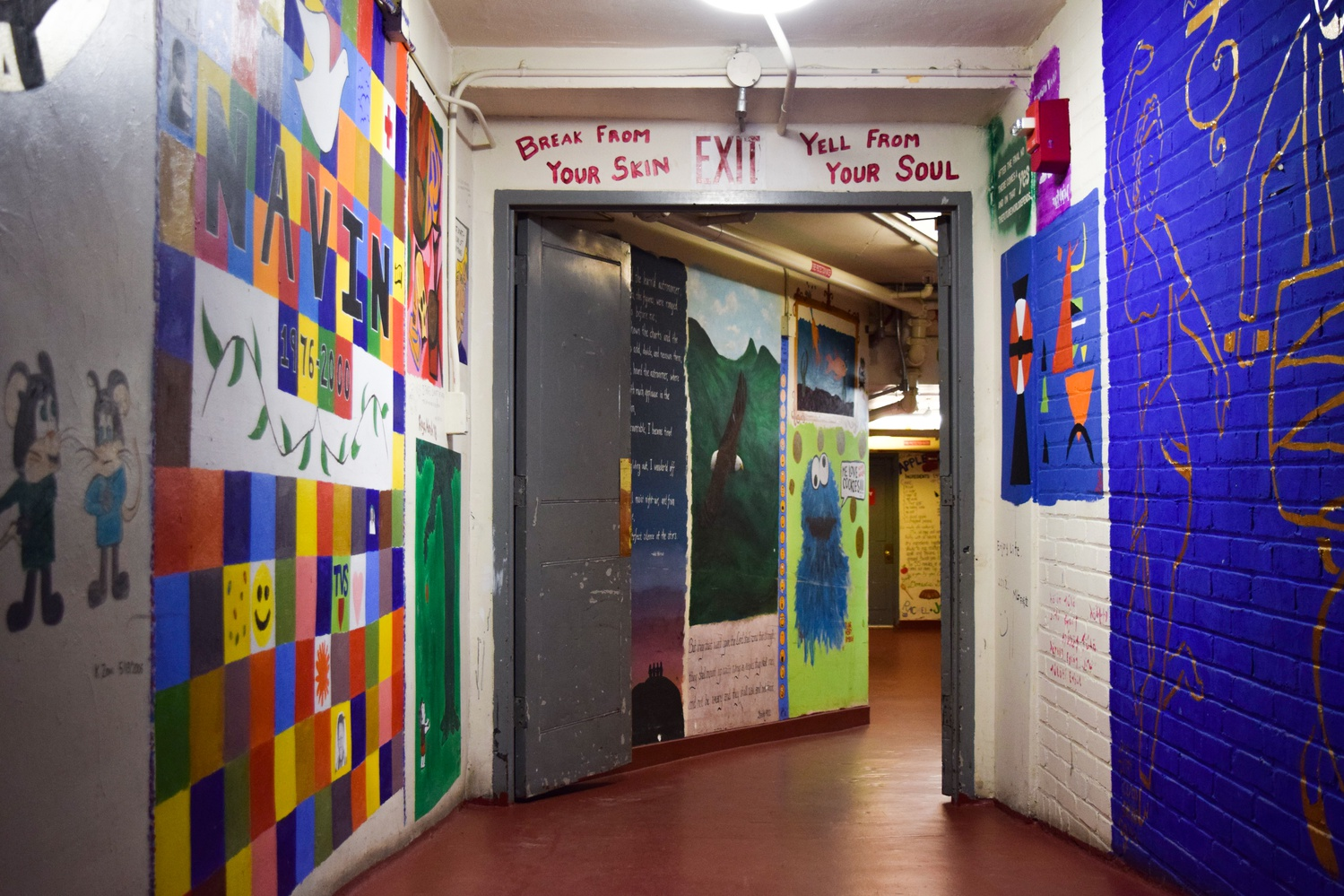 Basement murals from Adams House, a community traditionally supportive of both the arts and BGLTQ communities at Harvard.