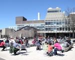 Science Center Plaza in Spring