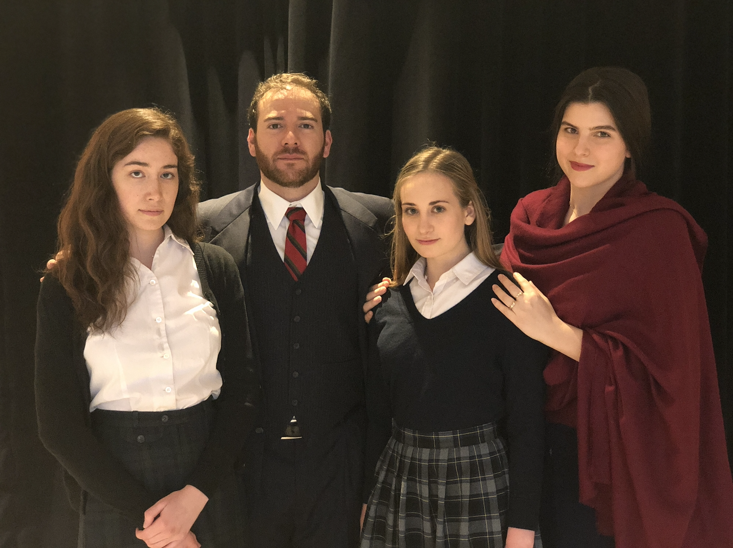 """Students portray the Frank family in """"The Diary of Anne Frank"""" at the Loeb."""