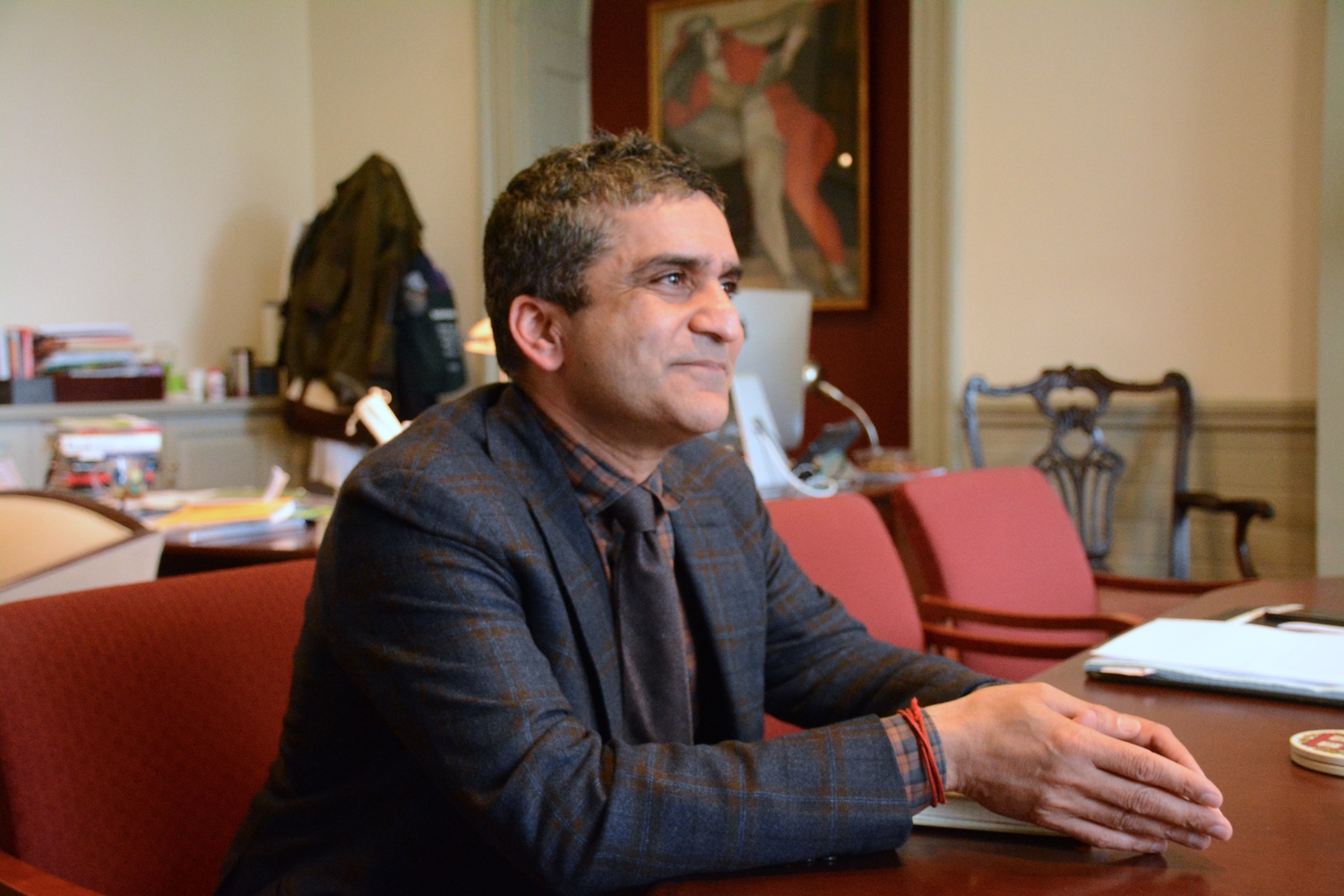 Dean of the College Rakesh Khurana, pictured here in April, said Friday that Harvard needs more information before making any decisions about a possible multicultural center.