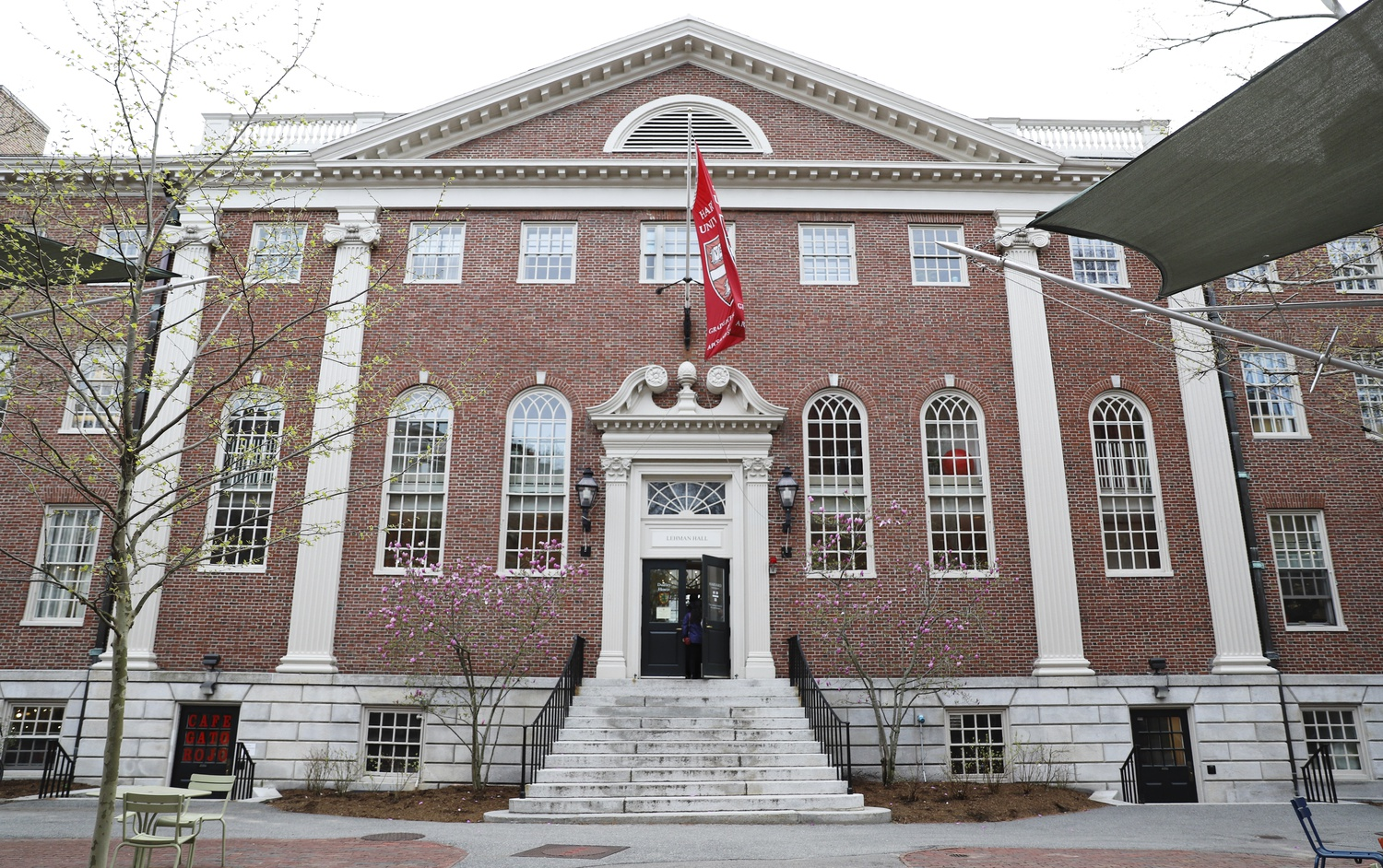 Lehman Hall, home of Dudley House, is located in Harvard Yard.