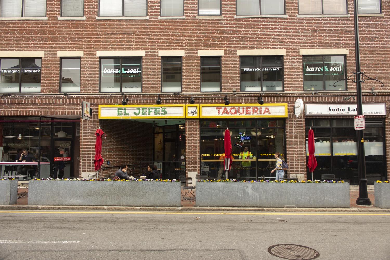 El Jefe's Taqueria is located at 83 Mt Auburn Street.