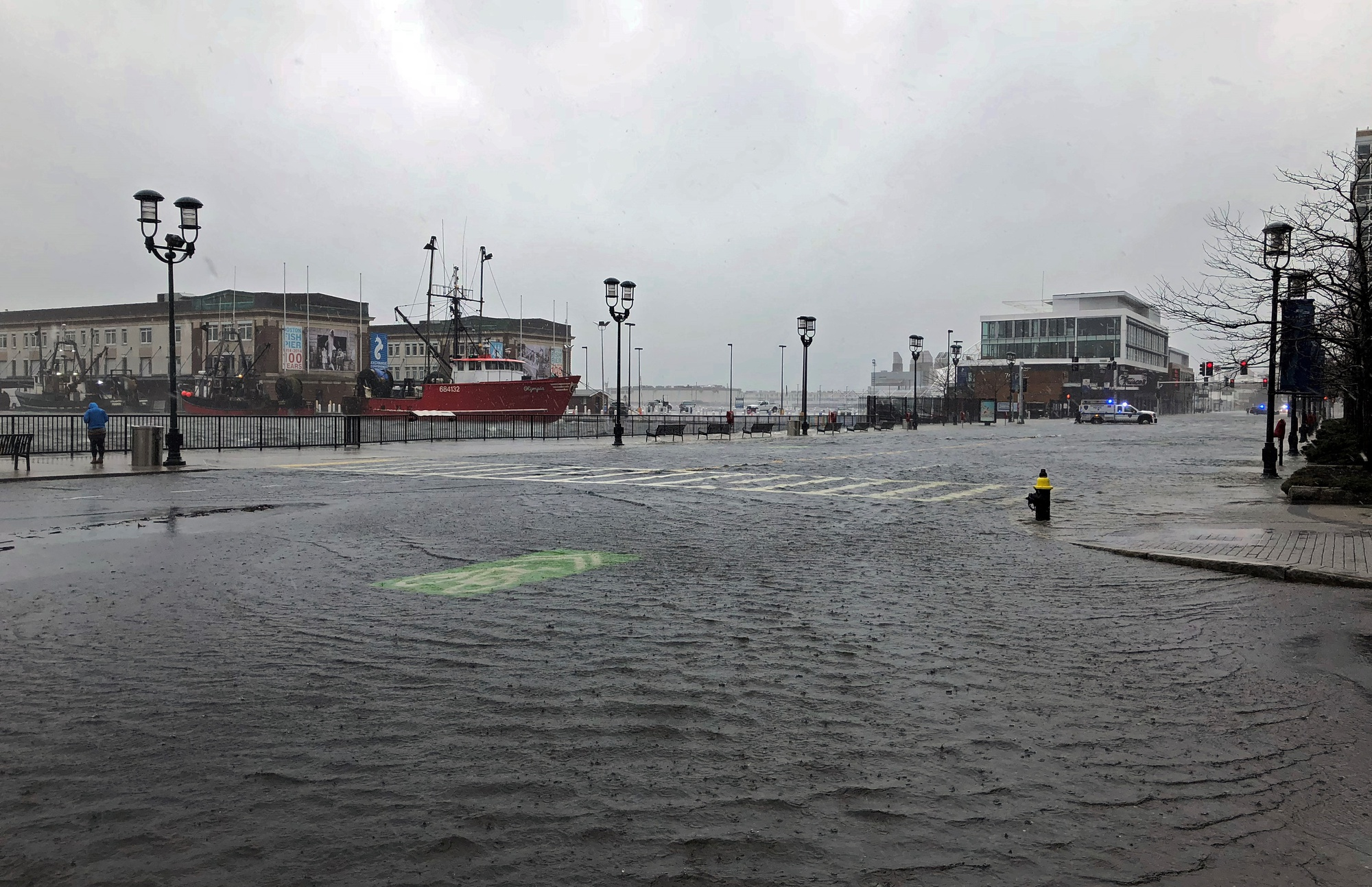 A nor'easter lashed Massachusetts in March 2018, flooding low-lying coastal areas and bringing heavy rain.
