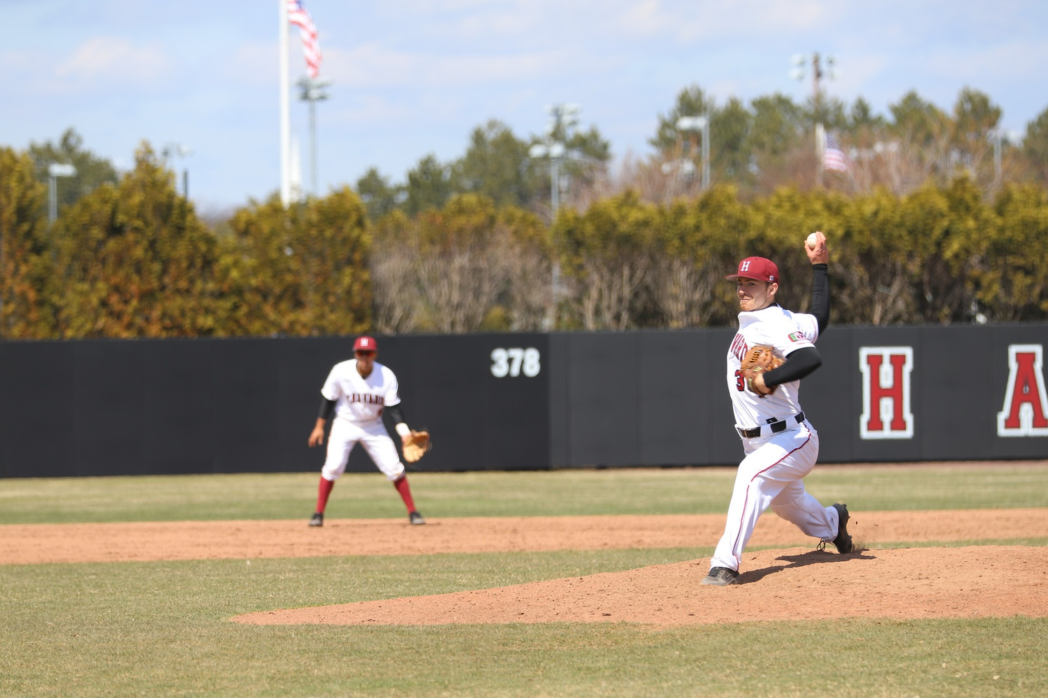 Junior Hunter Bigge has excelled as a two-way player for the Crimson this season. The righty has compiled a 5-1 record on the mound, and a .291 average at the plate
