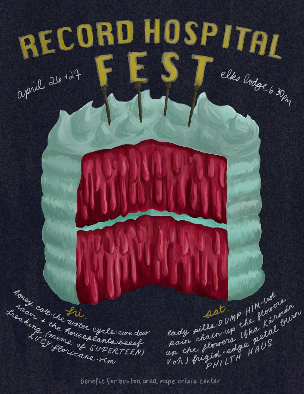 Poster for Record Hospital Fest 2019.