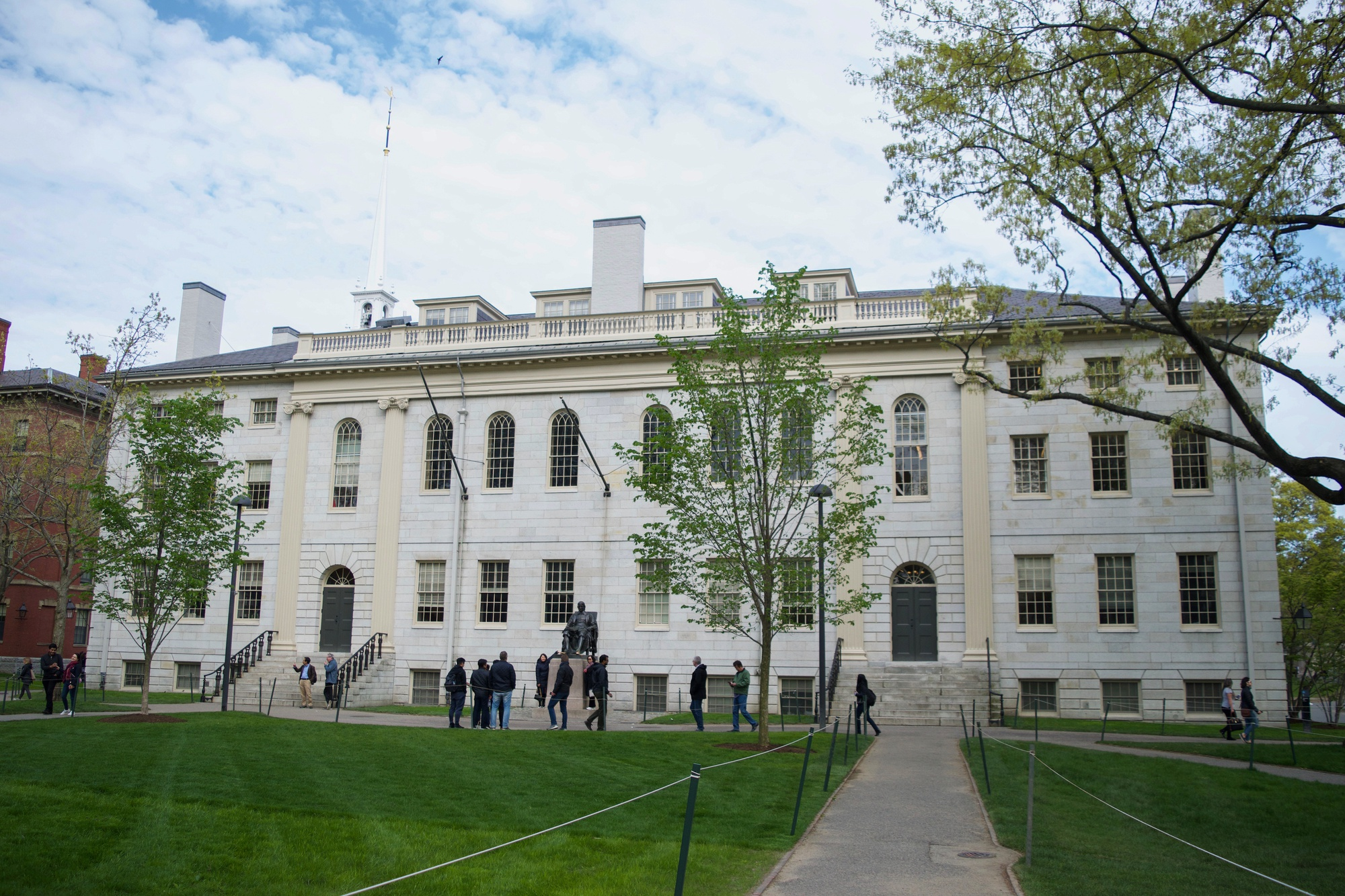 University Hall in located in Harvard Yard. The University announced the conclusion of the a Title IX investigation into former Government Professor Jorge I. Dominguez Thursday.