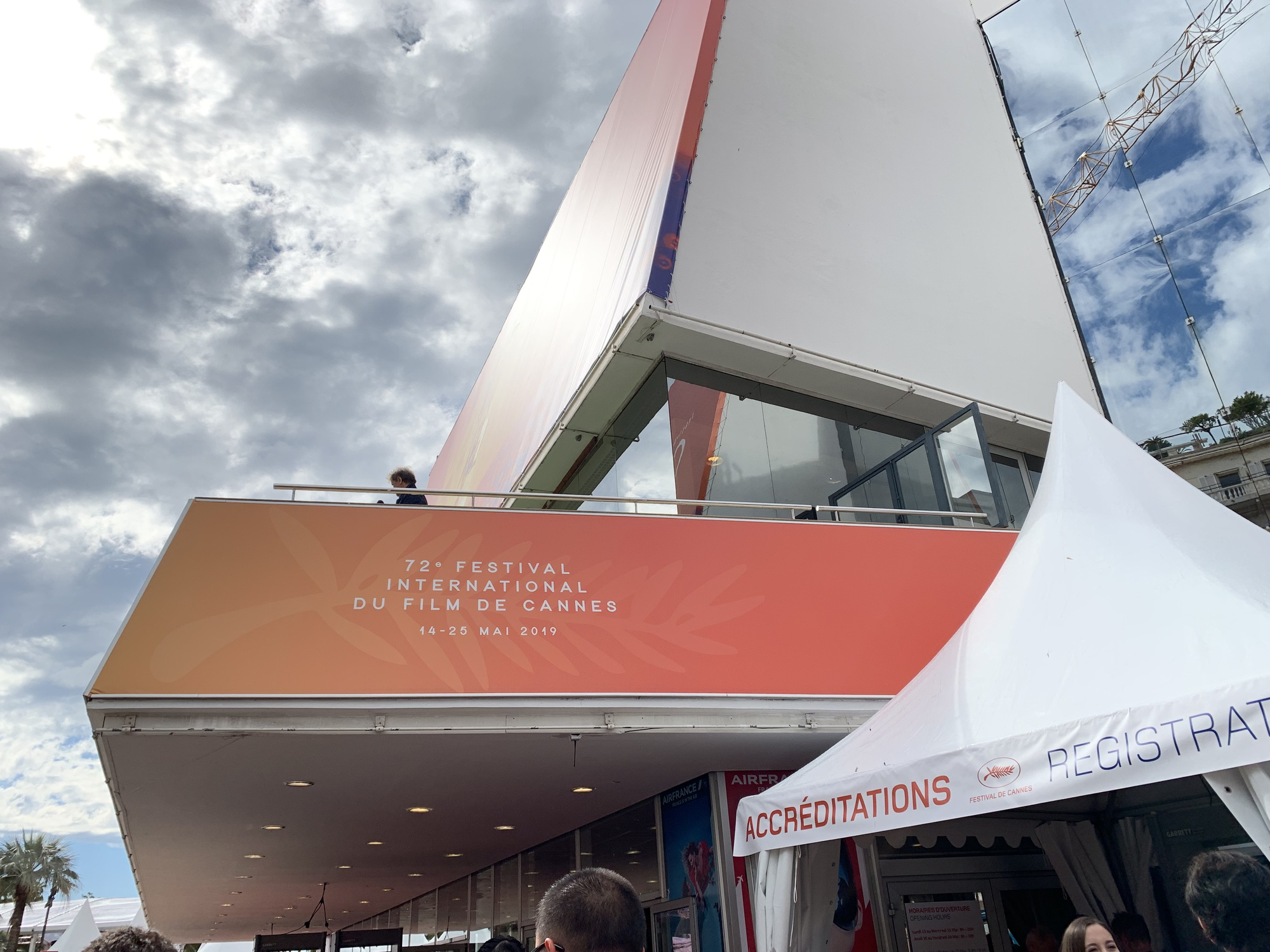 Outside Salle Debussy, one of the theaters where films are screened at Cannes.
