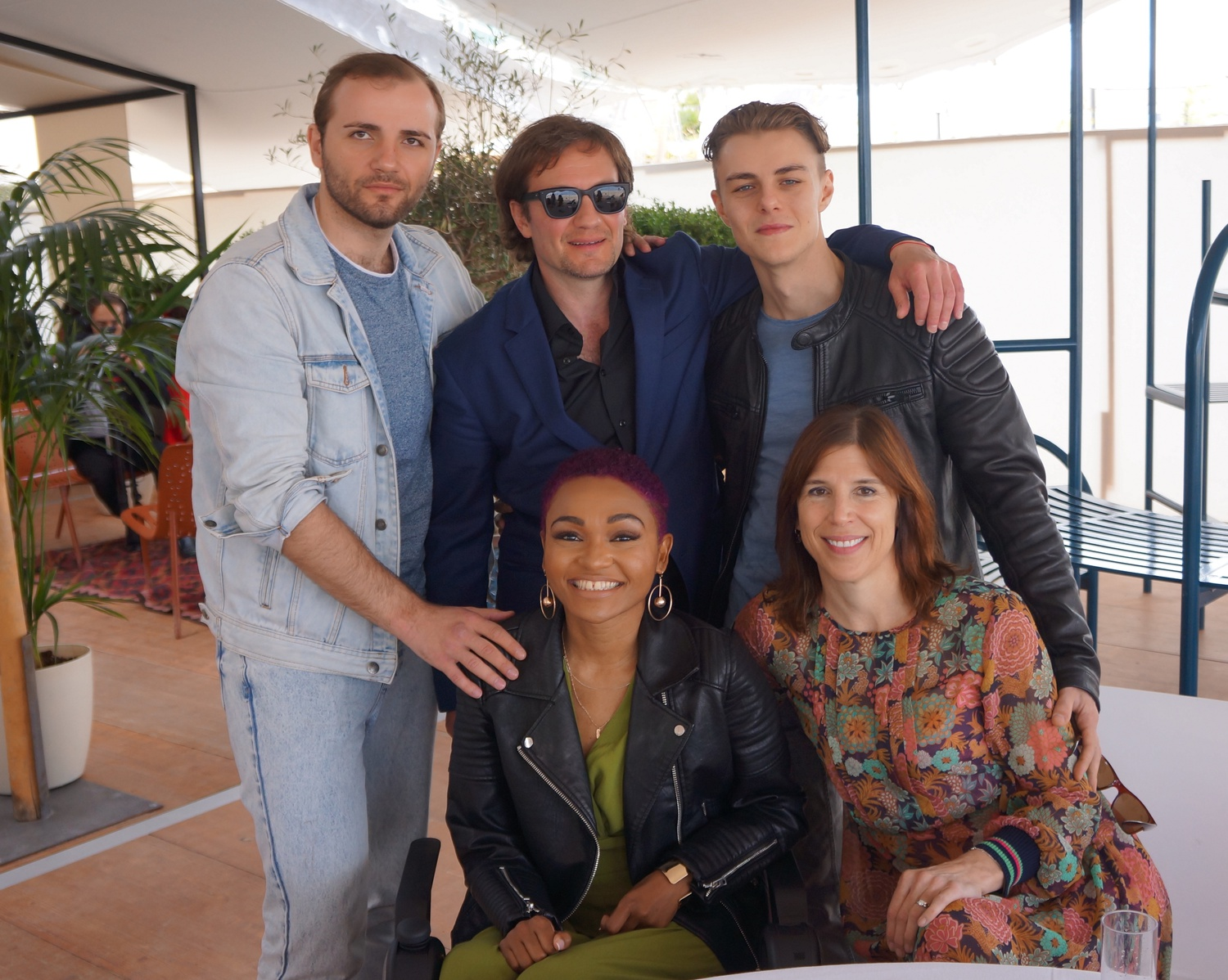"""The team of """"Give Me Liberty,"""" from left to right, starting with the top row: Maksim Stoyanov, who plays Dima; Director Kirill Mikhanovsky; Chris Galust, who plays Vic; Lauren """"Lolo"""" Spencer, who plays Tracy; Screenplay writer Alice Austen."""