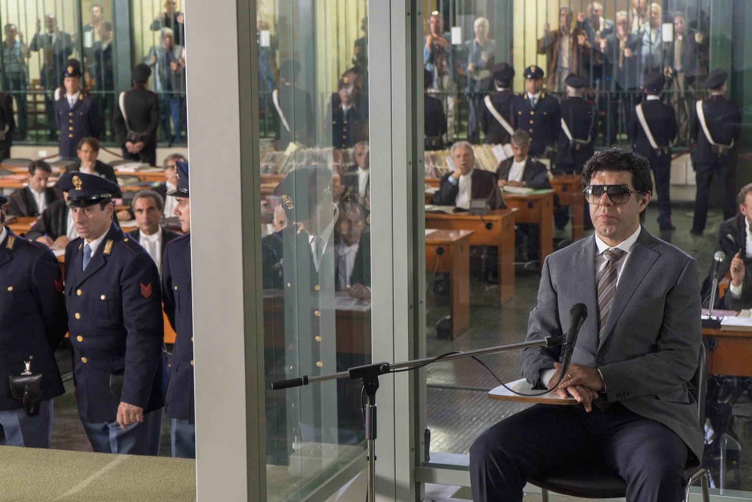 """Pierfrancesco Favino stars as Italian mafia boss Tommasso Buscetta in """"Il Traditore"""" (""""The Traitor"""")."""