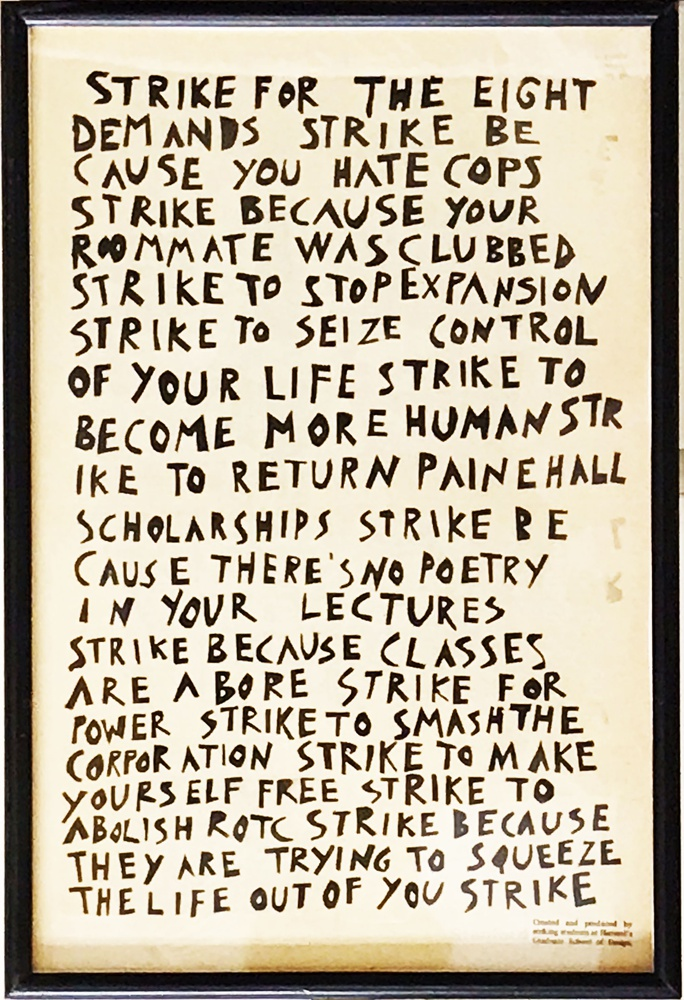 A poster urging students to strike in 1969.
