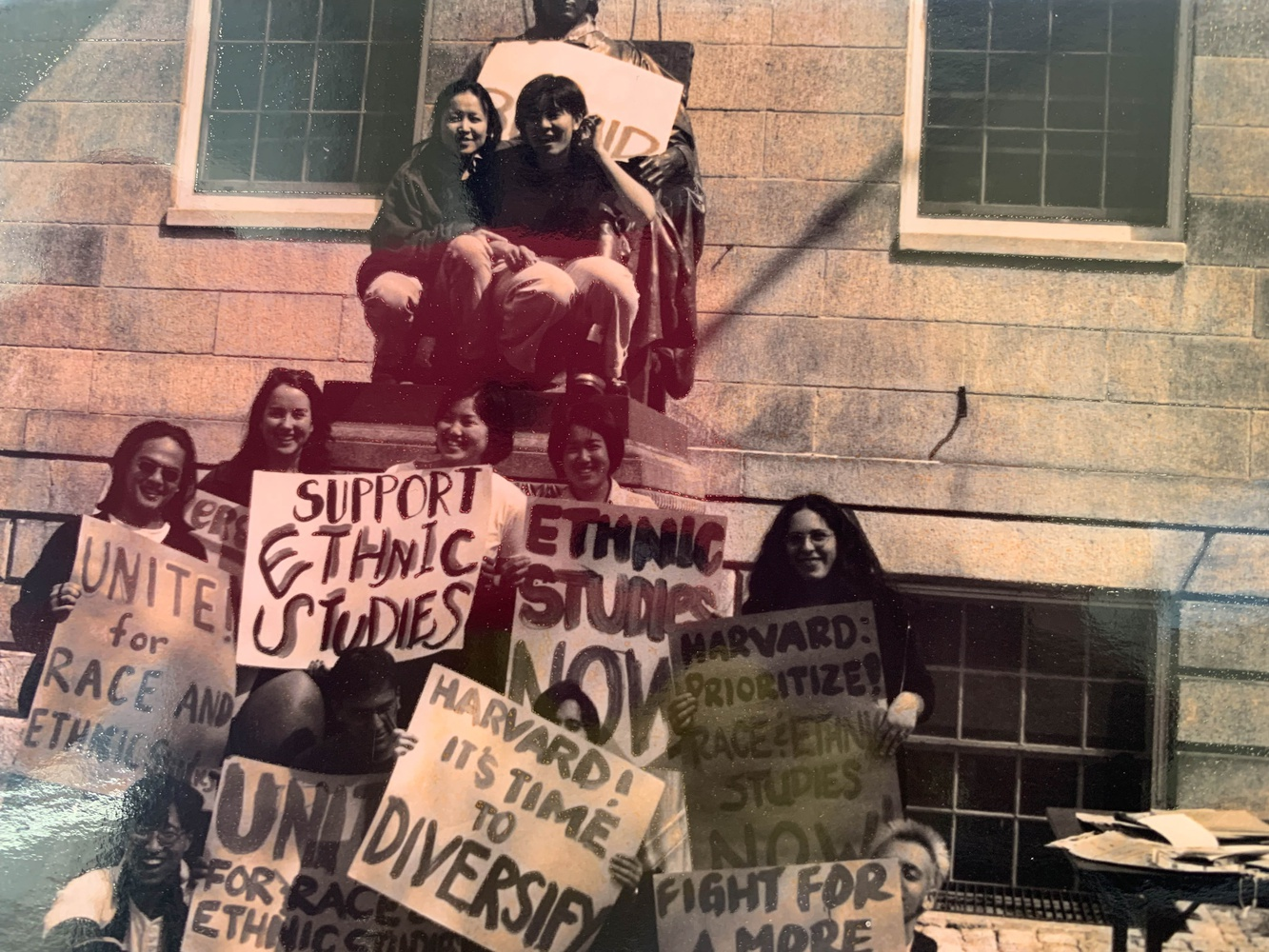 Students staged sit-ins and protests during the 1993-1994 academic year to demonstrate support for creating an ethnic studies department.