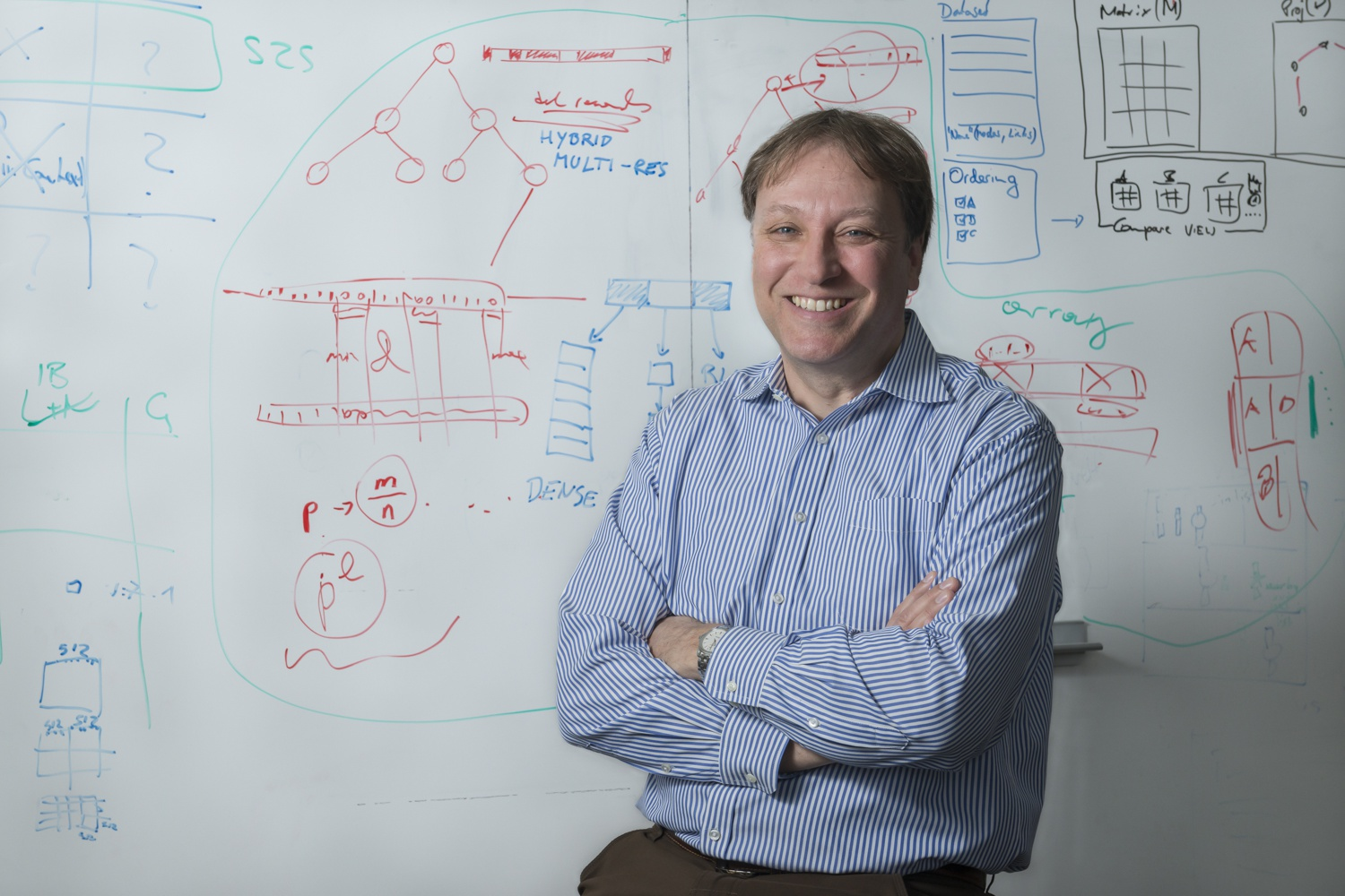 Computer Science Professor Hanspeter Pfister studies visual computing across a wide range of topics, including biomedical visualization and visual data analytics.