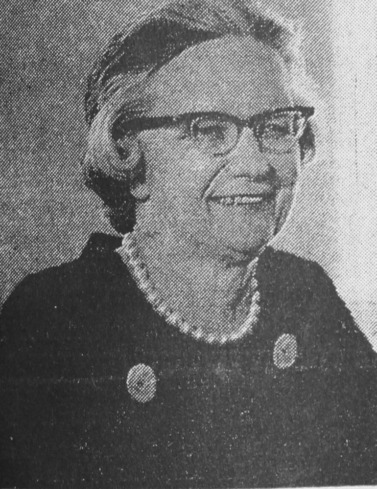 Mary I. Bunting, President of Radcliffe College in 1969.