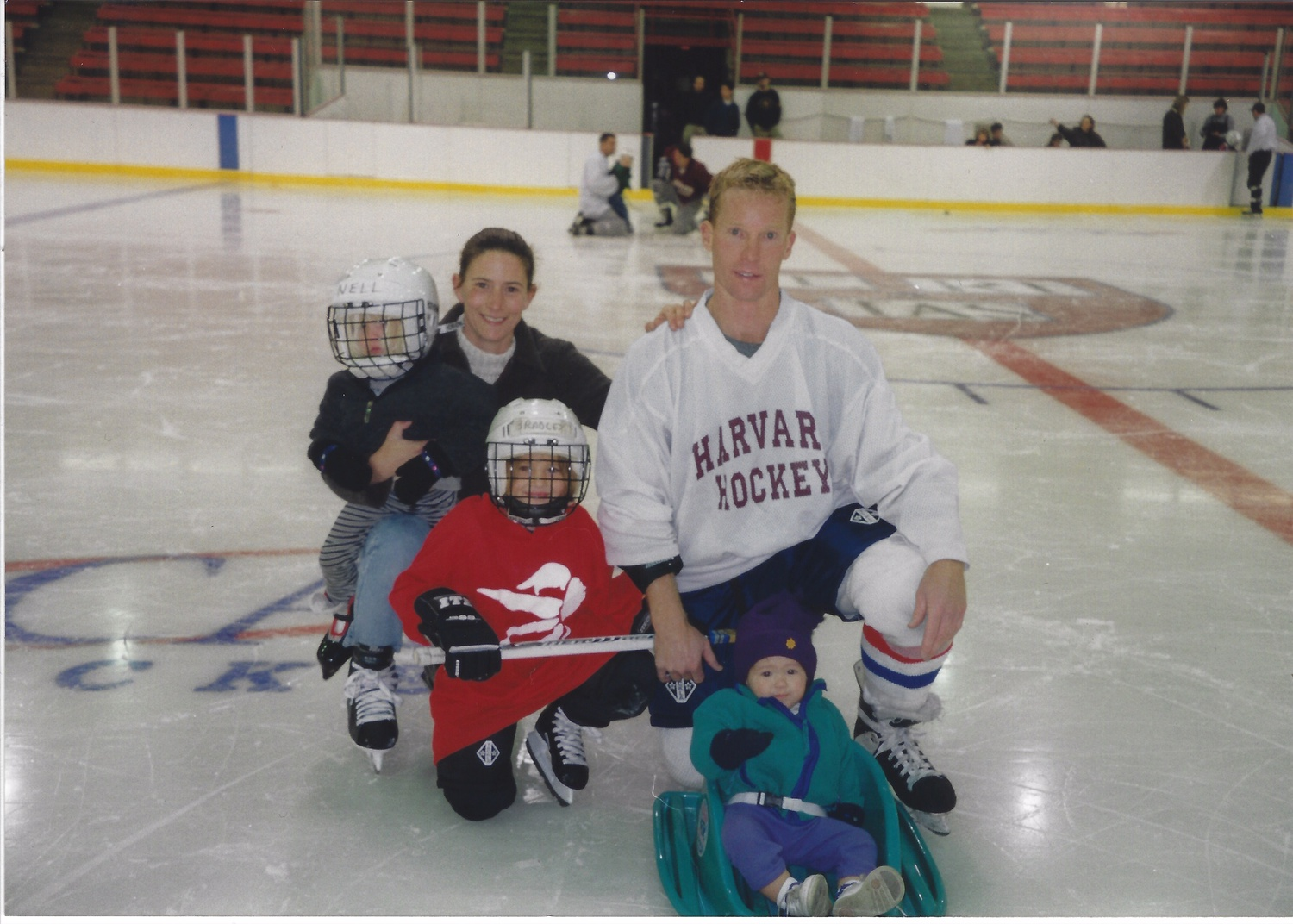 Bradley Fusco is no stranger to the confines of the Bright-Landry Hockey Center, pictured her with her family in 2001.