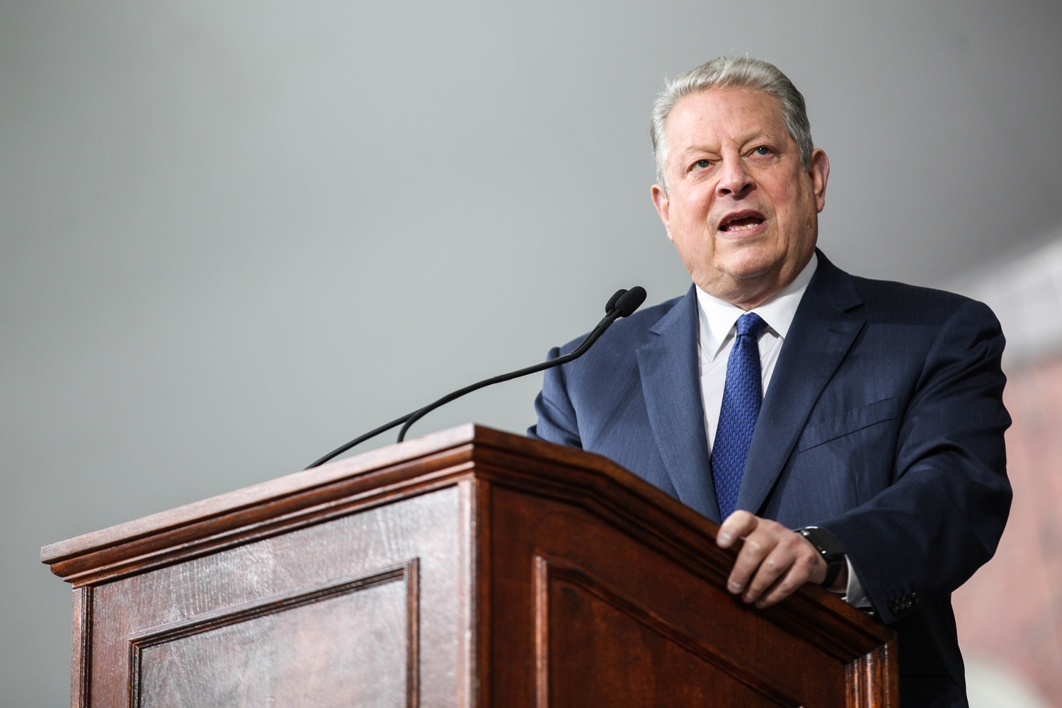 Former United States Vice President Al Gore '69 spoke at the College Class Day ceremony Wednesday in Tercentenary Theater.