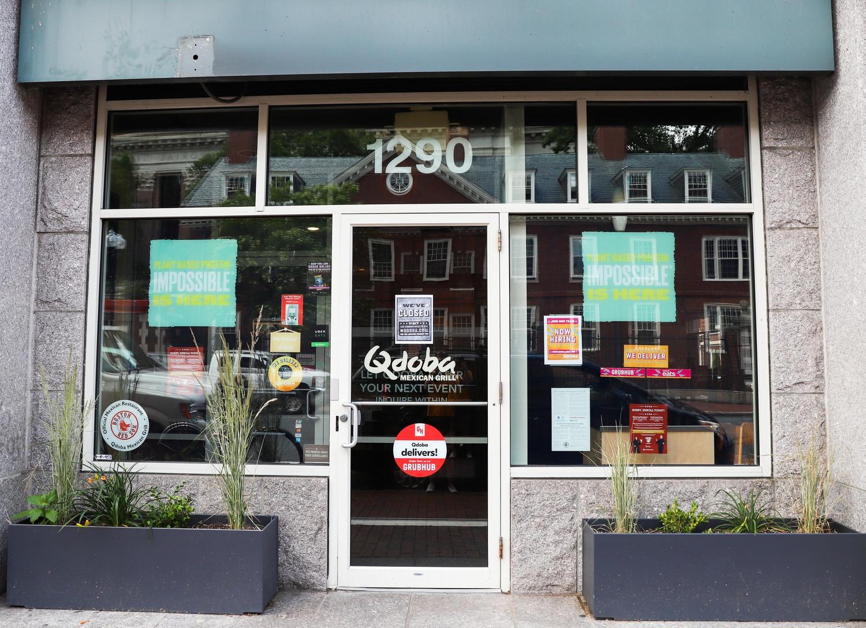 Qdoba Mexican Eats closed its Harvard Square location at 1280 Massachusetts Ave. last week.