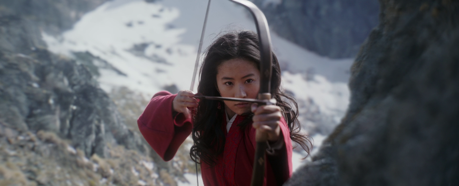 Mulan (Liu Yifei) in the teaser for the new live-action adaptation.