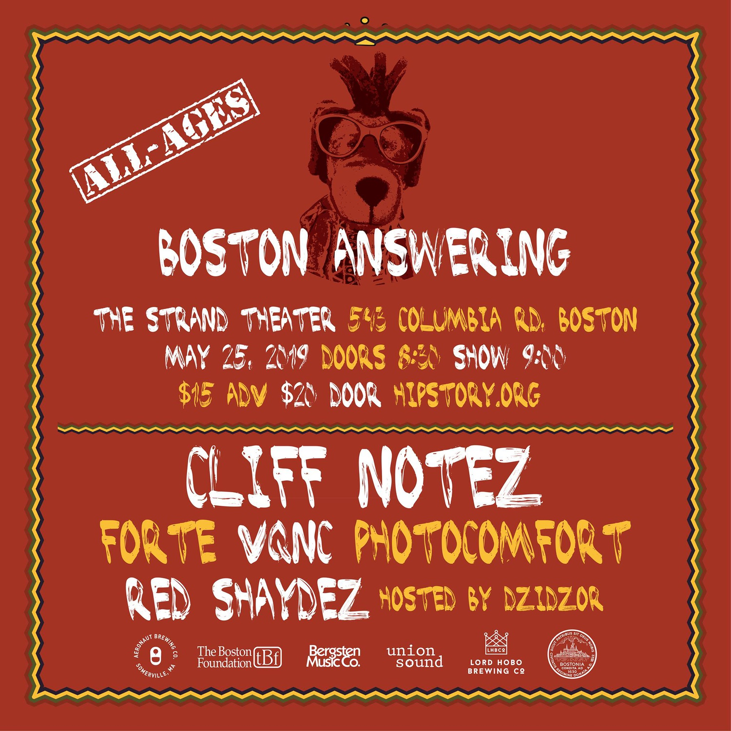 Poster for Boston Answering 2019.