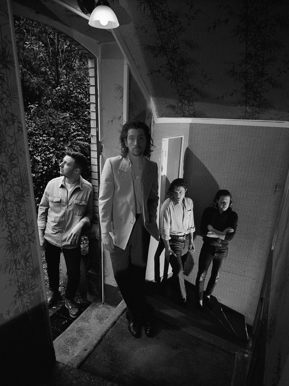 Group shot of the Arctic Monkeys.