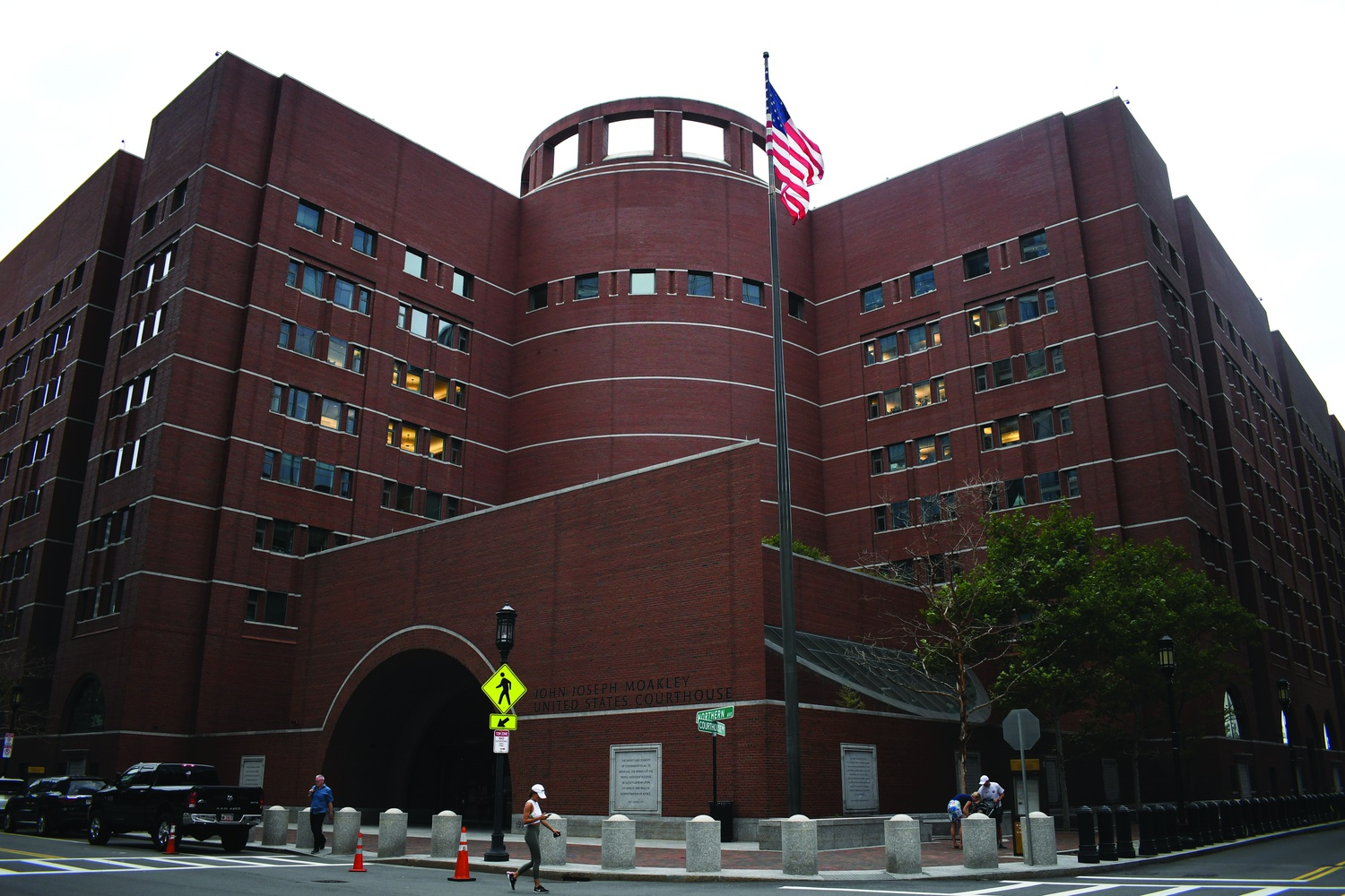 The John Joseph Moakley Courthouse in Boston was the site of the three-week admissions trial.