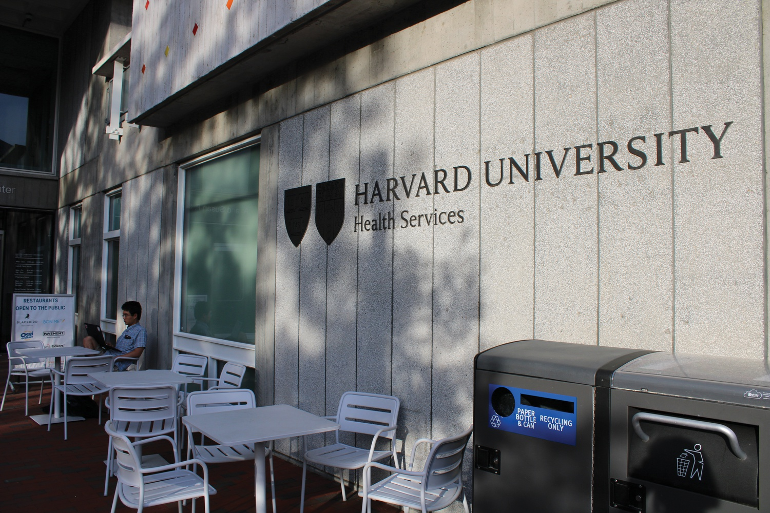 Harvard University Health Services is housed in the Smith Campus Center.