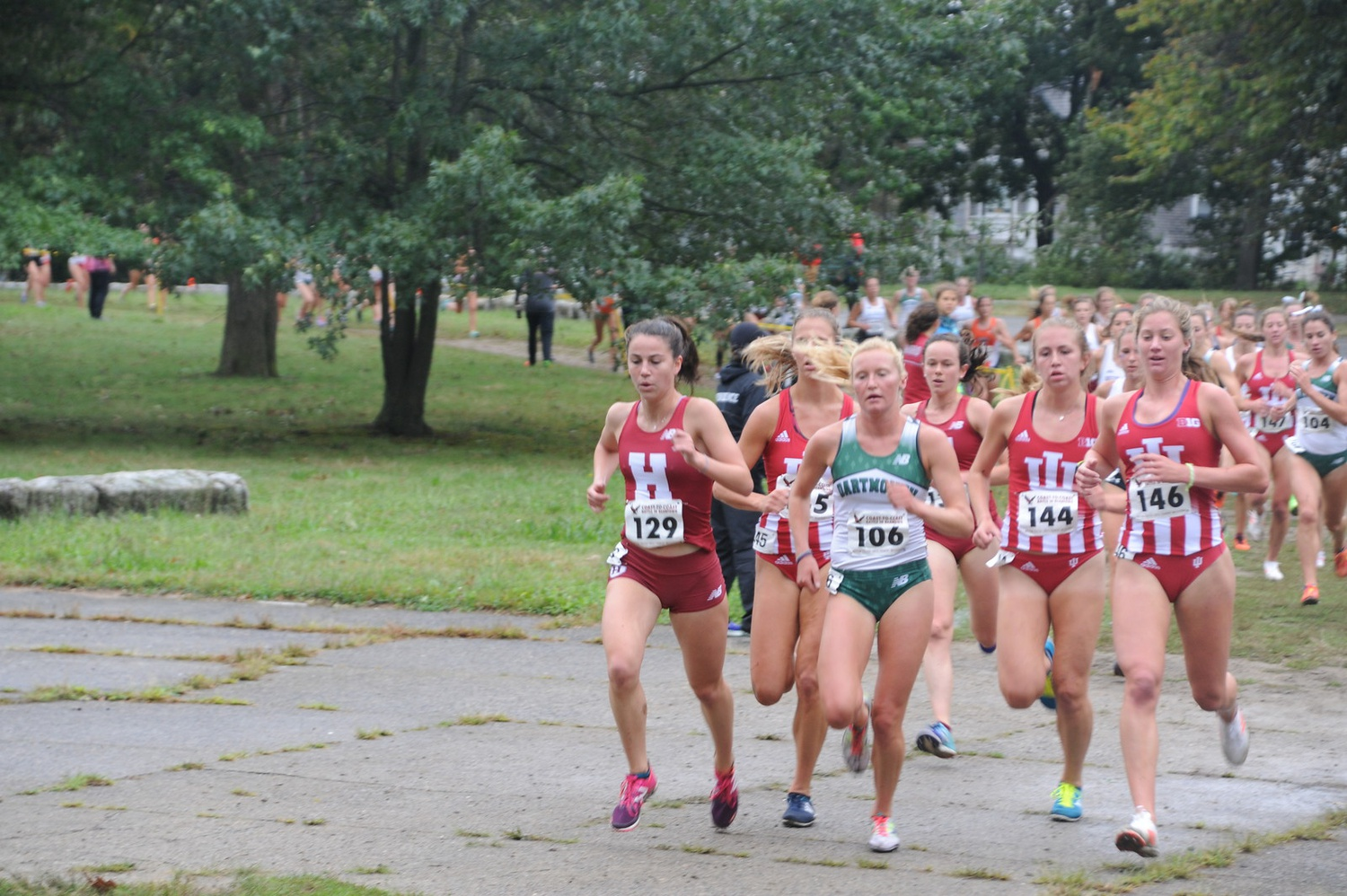 The women took home first place for the Crimson in the Bronx this weekend at the Fordham Fiasco.