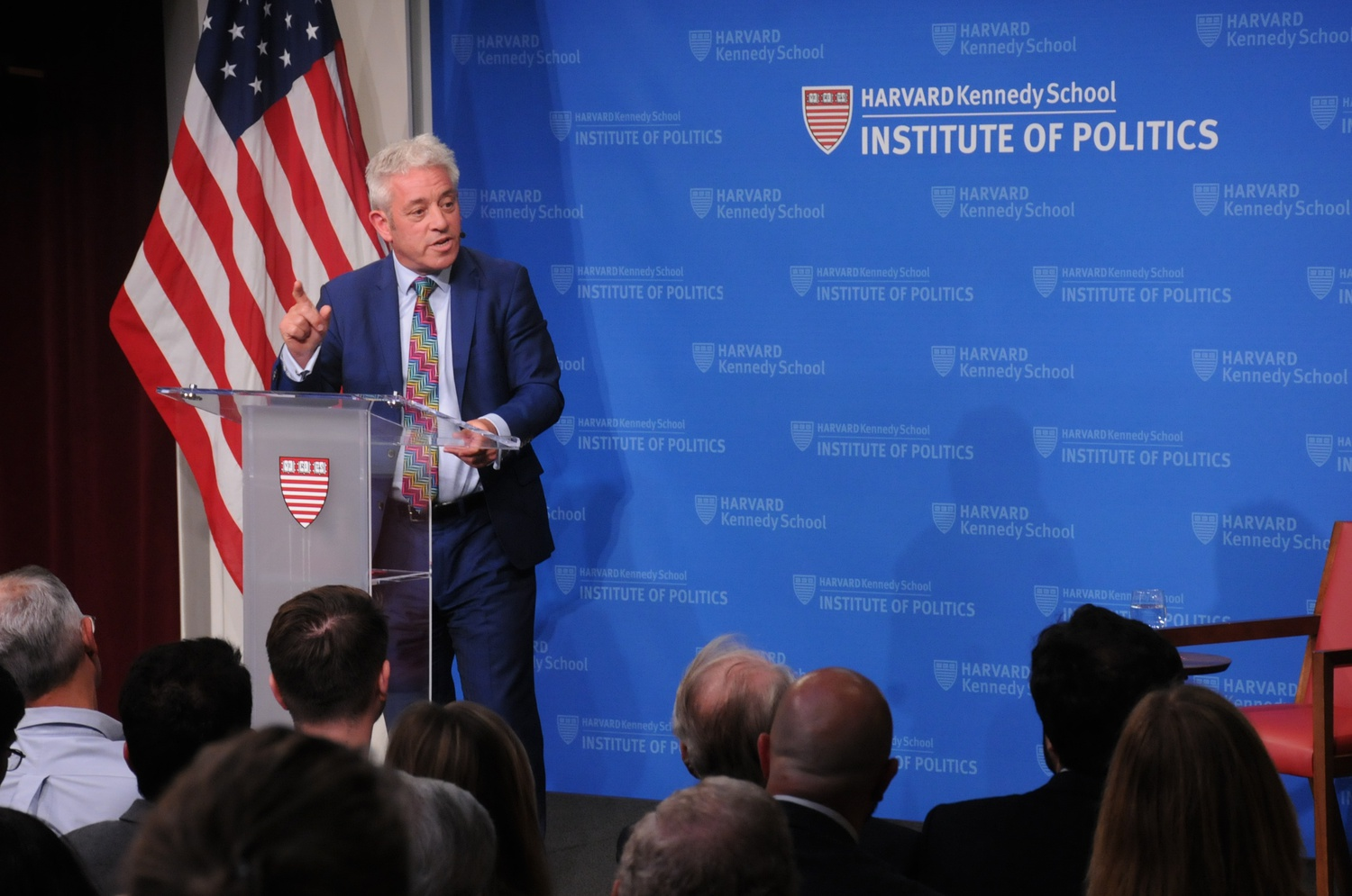 The Right Honorable John Bercow discussed his role as the speaker of the British House of Commons at a public address Monday evening.