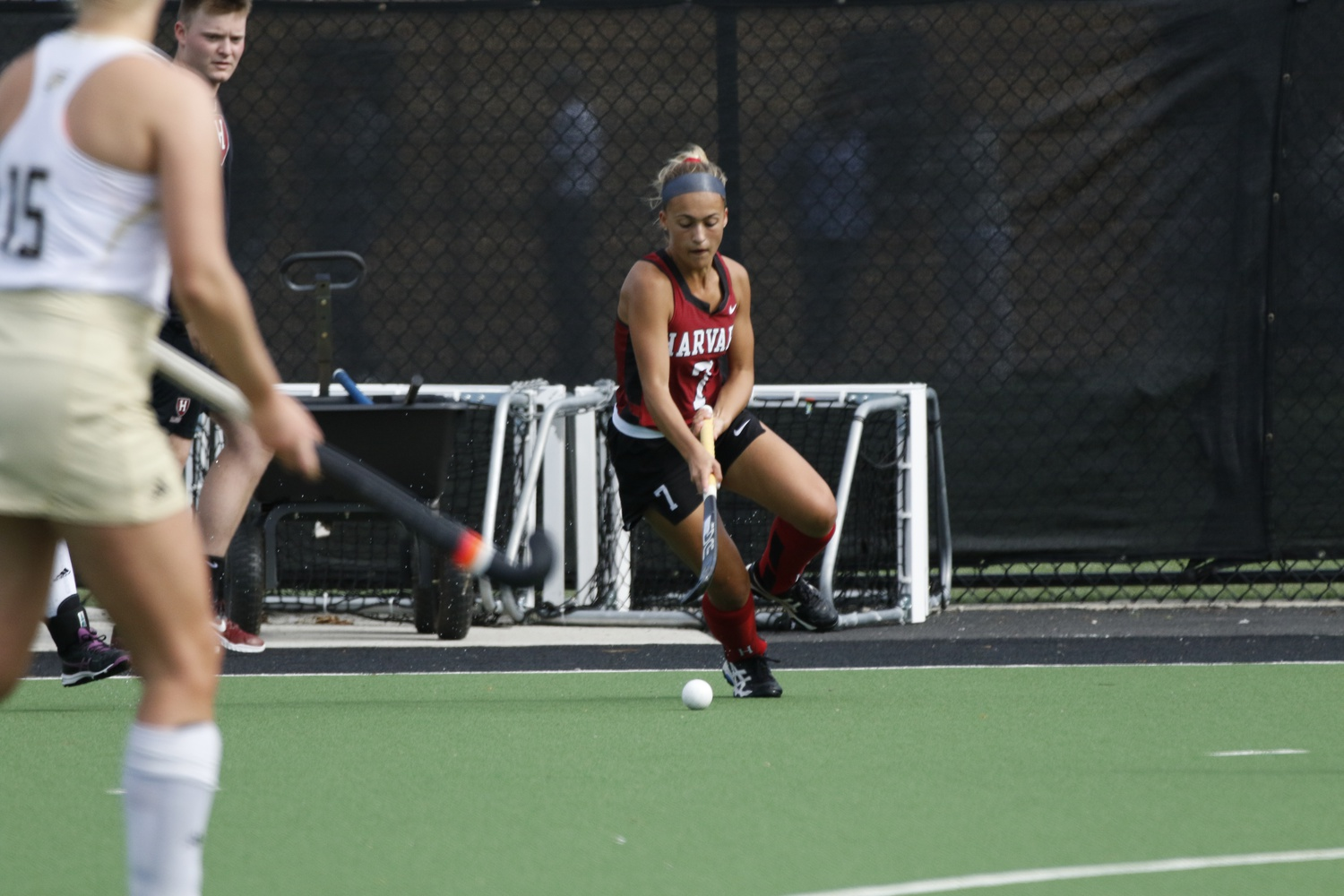 Senior Casey Allen controls play during a game last season. In Monday's contest with UMass, Allen earned the team's lone assist. Throughout the course of the season, the senior has factored into half of all of the team's goals.
