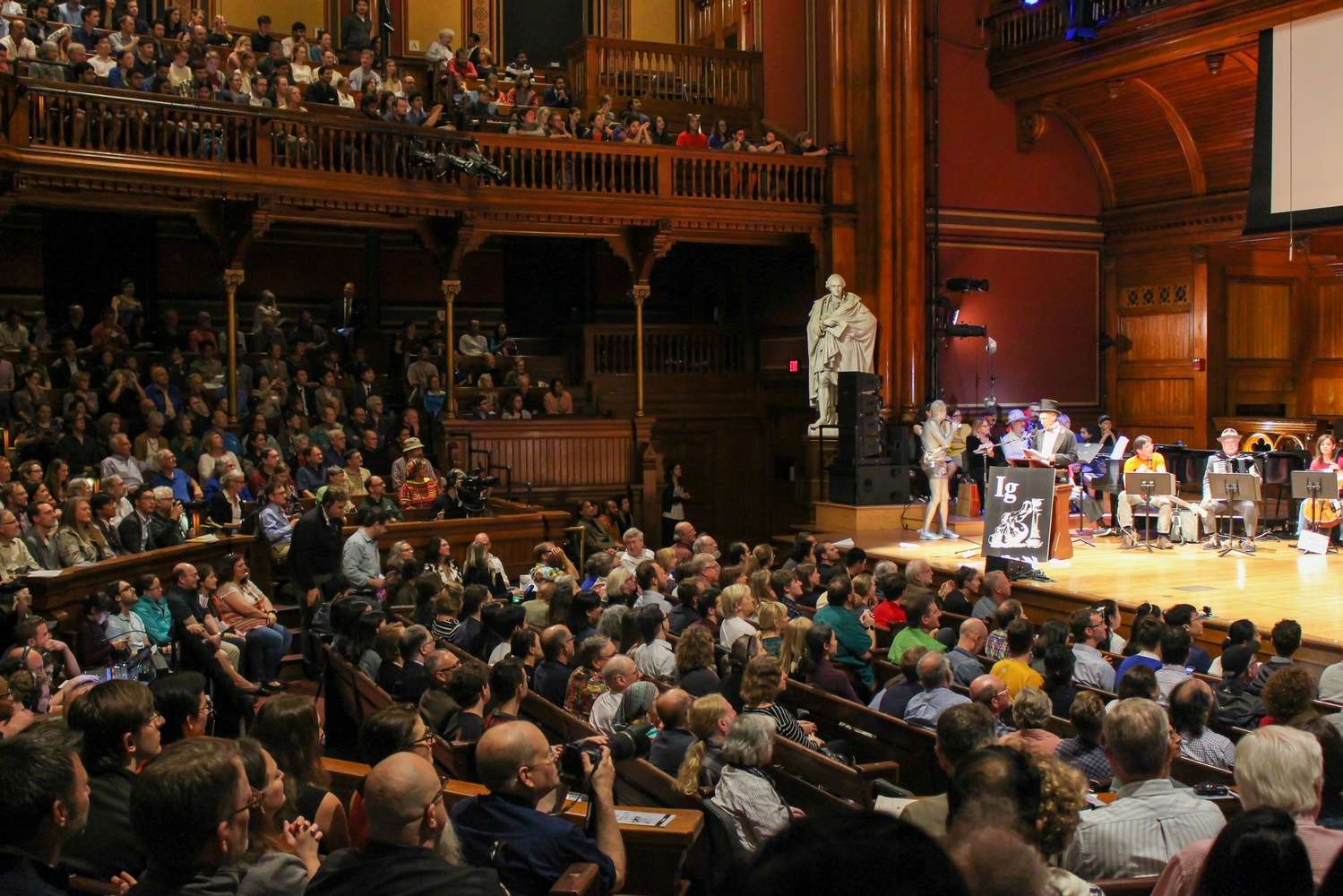 The Ig Nobel awards are presented by real Nobel laureates in a ceremony at Sanders Theater on Harvard University's campus.