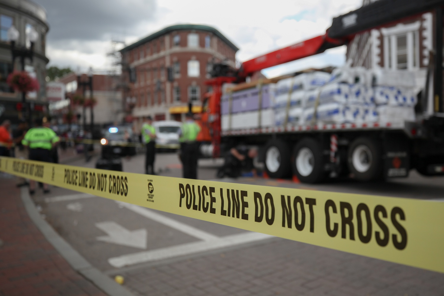Cambridge police stopped traffic in Harvard Square from around 8 a.m. to 2 p.m. Tuesday after a boom truck hit a pedestrian.